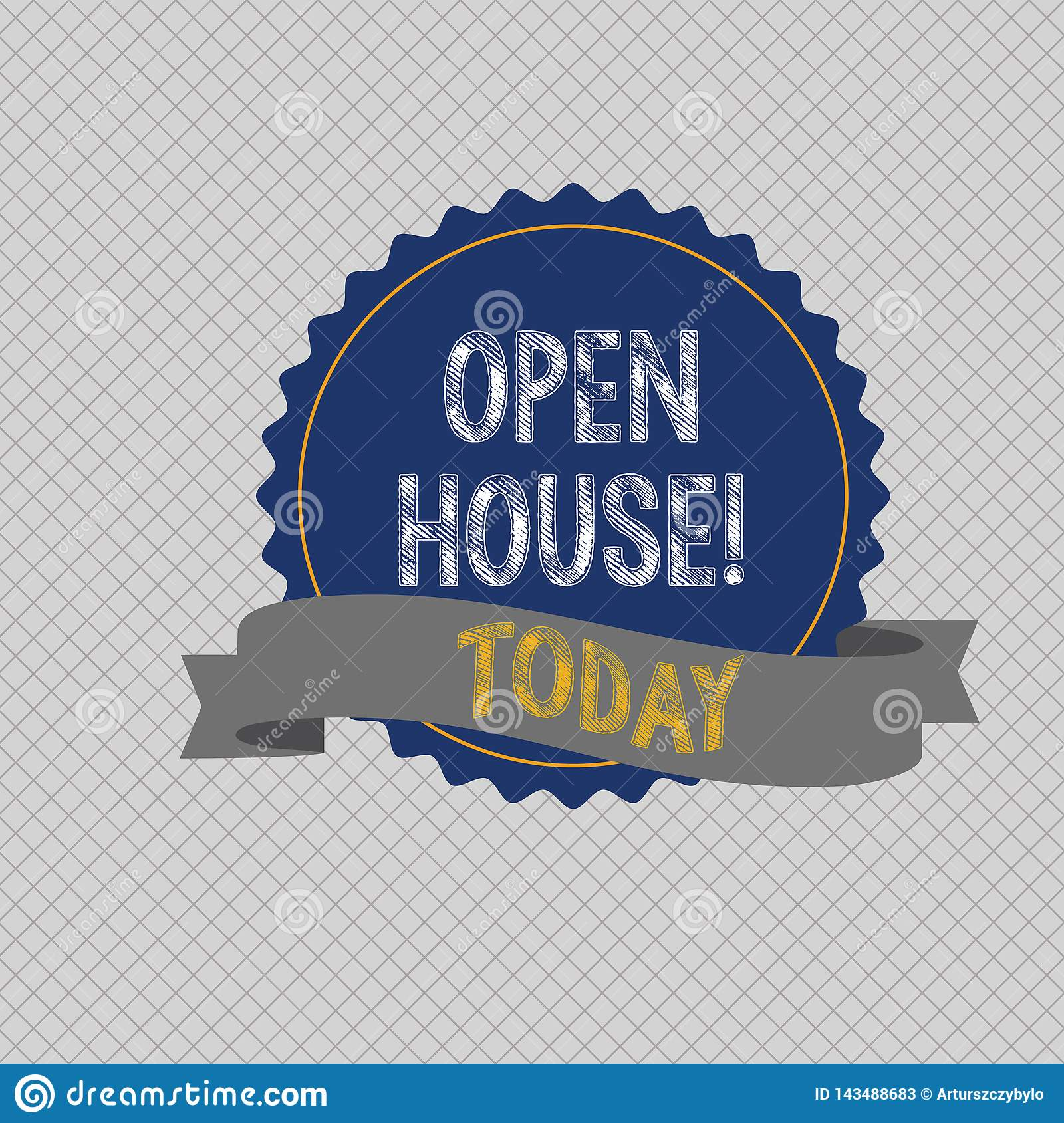 Conceptual Hand Writing Showing Open House Business Photo