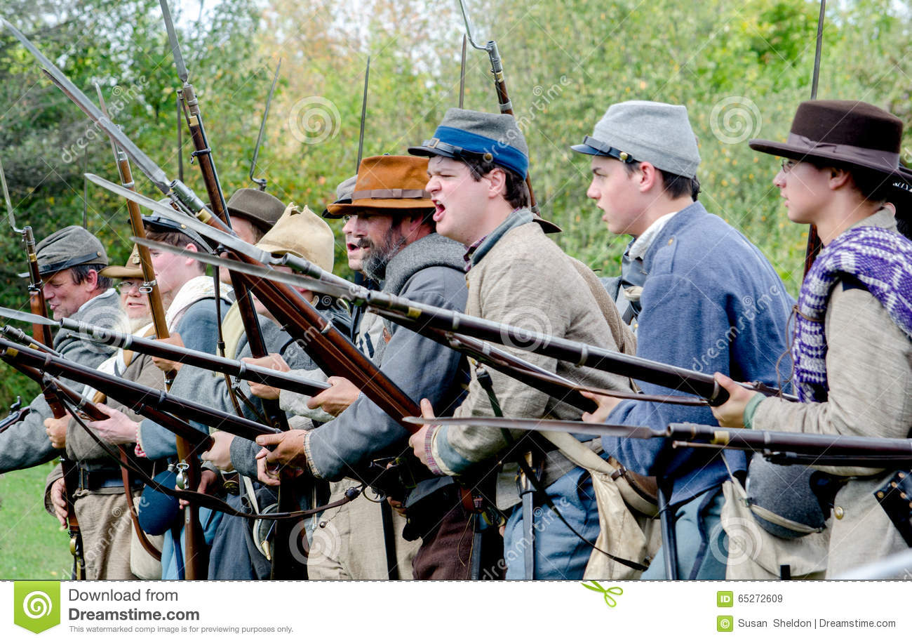 Confederate Sol Rs War Cry Editorial Stock Image