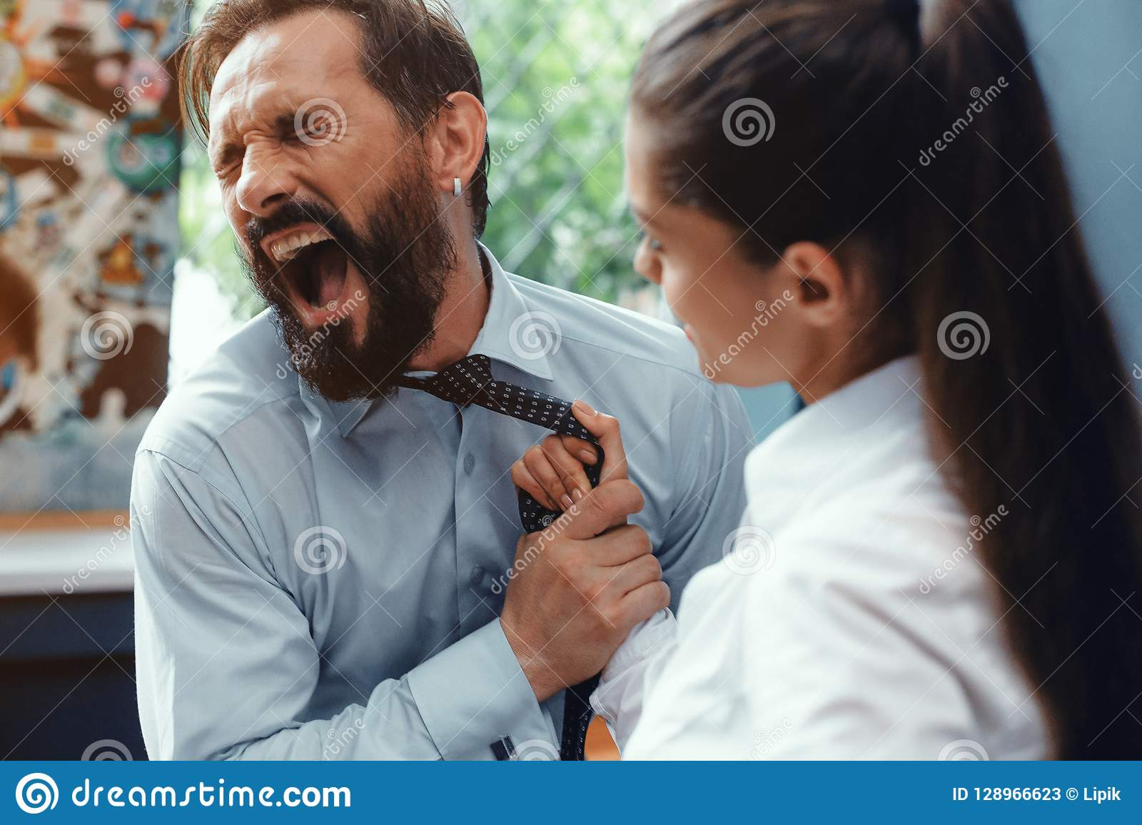 Conflict And Problems On Workplace Stock Image