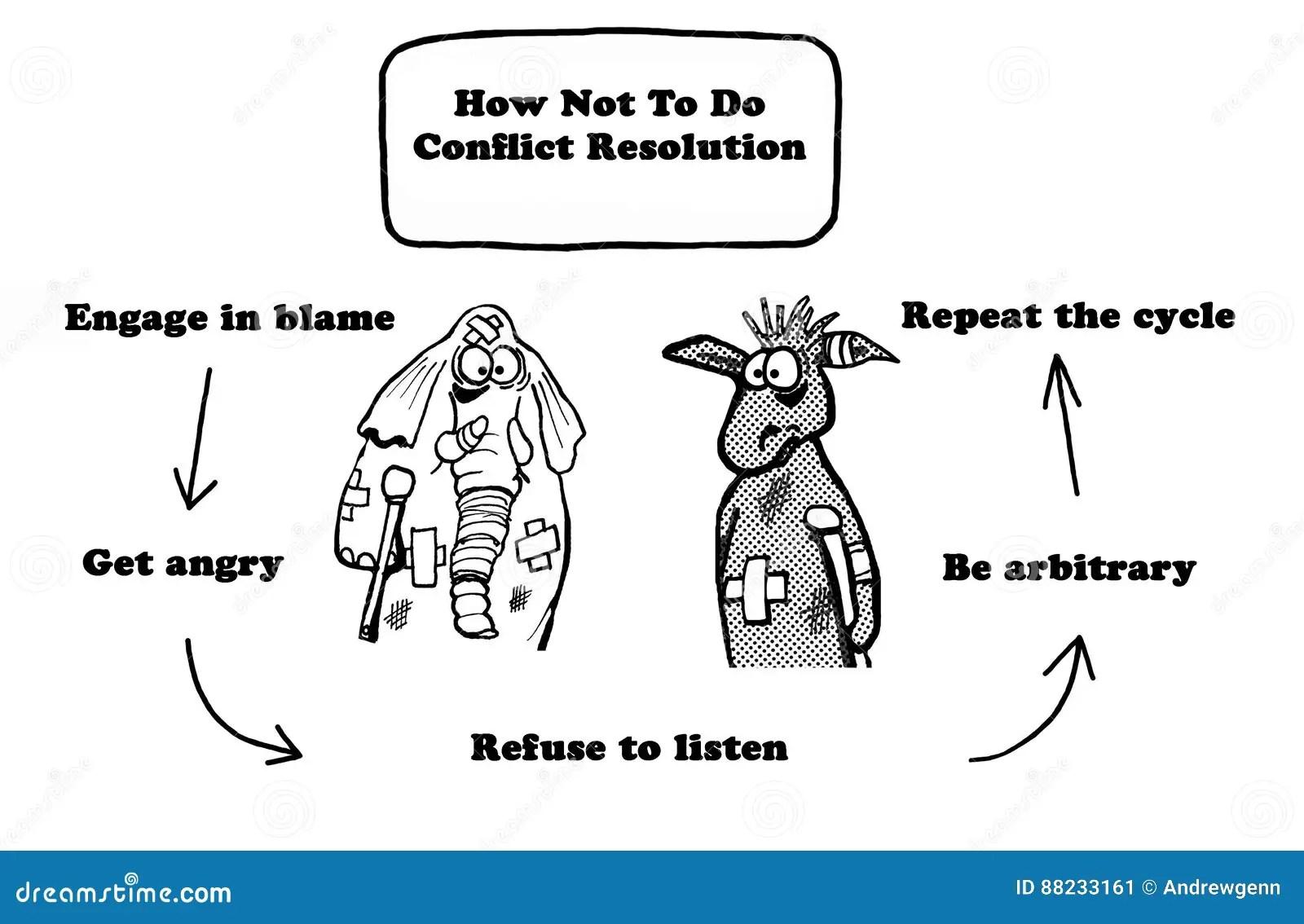 Conflict Resolution Stock Illustration Illustration Of