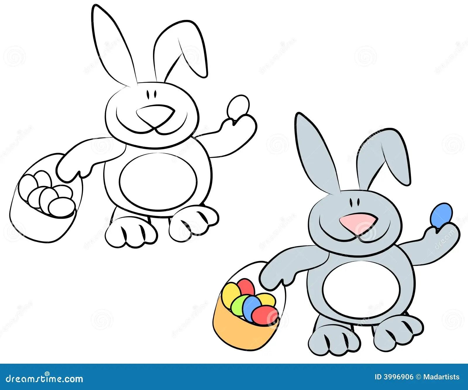 Conigli Di Coniglietto Sorridenti Di Pasqua Del Fumetto