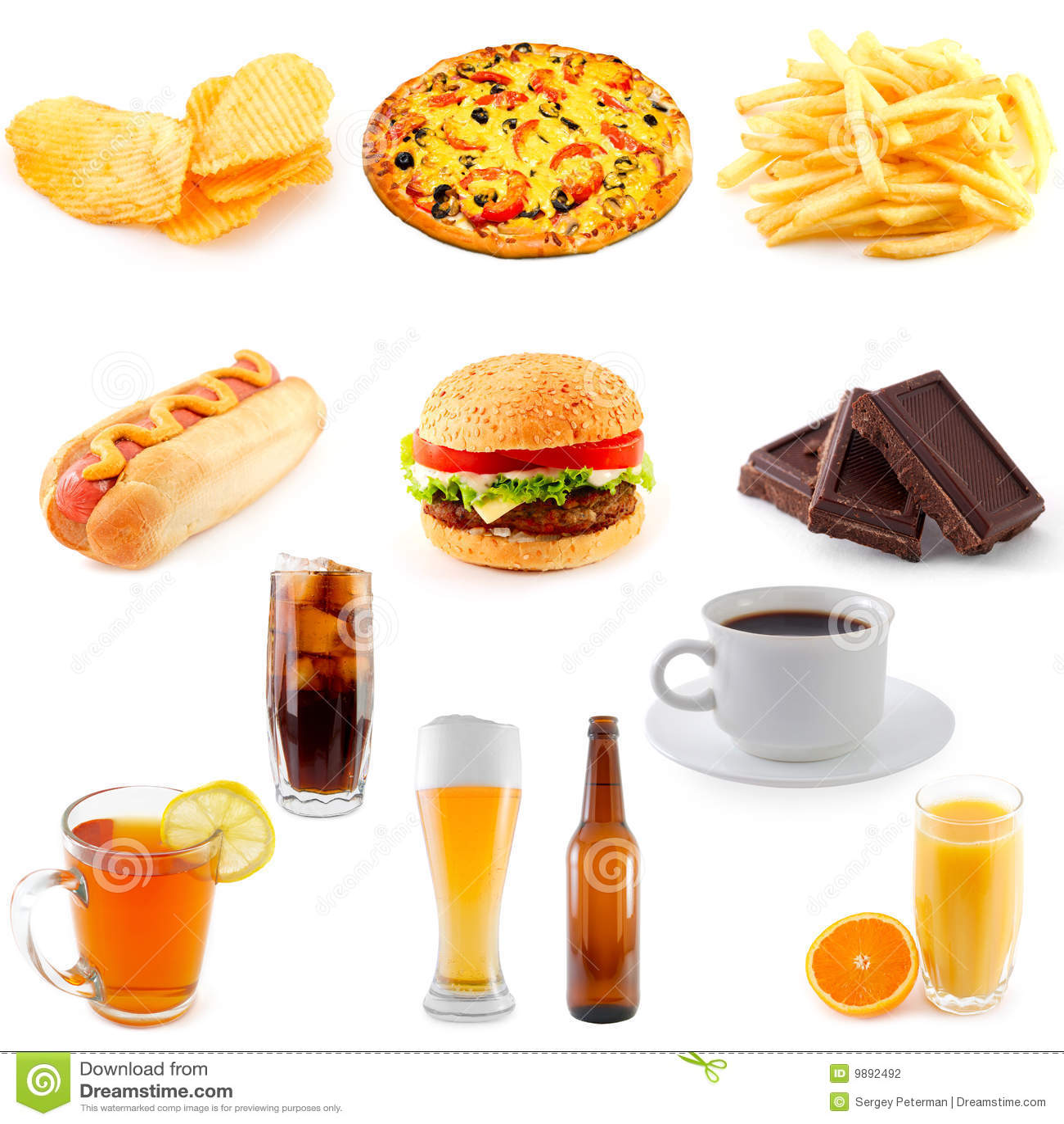 Conjunto De Alimentos De Preparacion Rapida Fotografia De