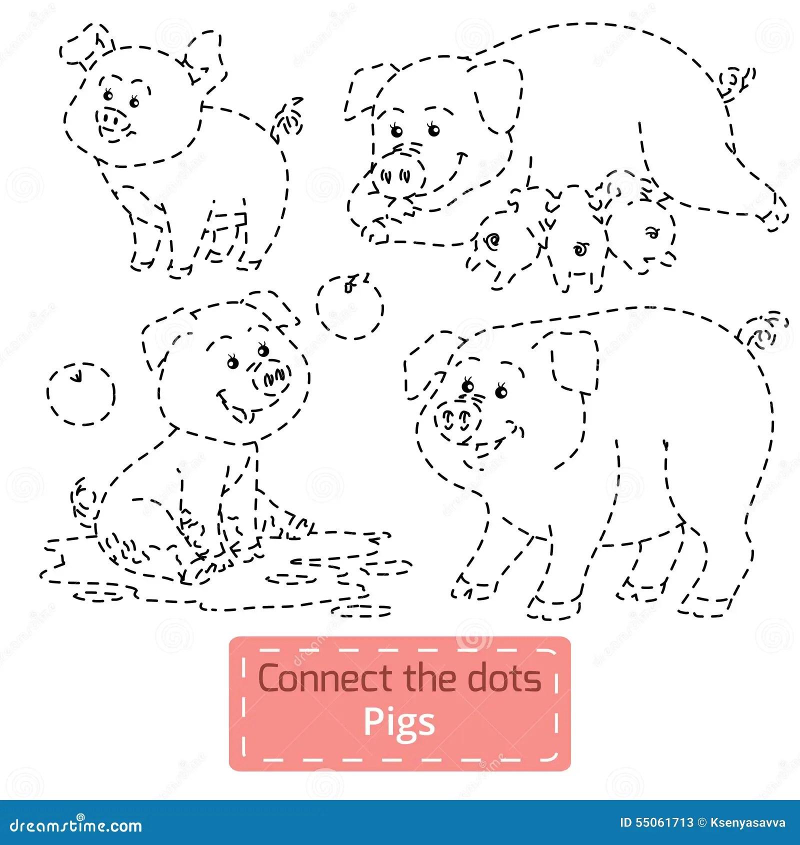 37 Free Printable Dot To Dot Farm Animals Dot Printable