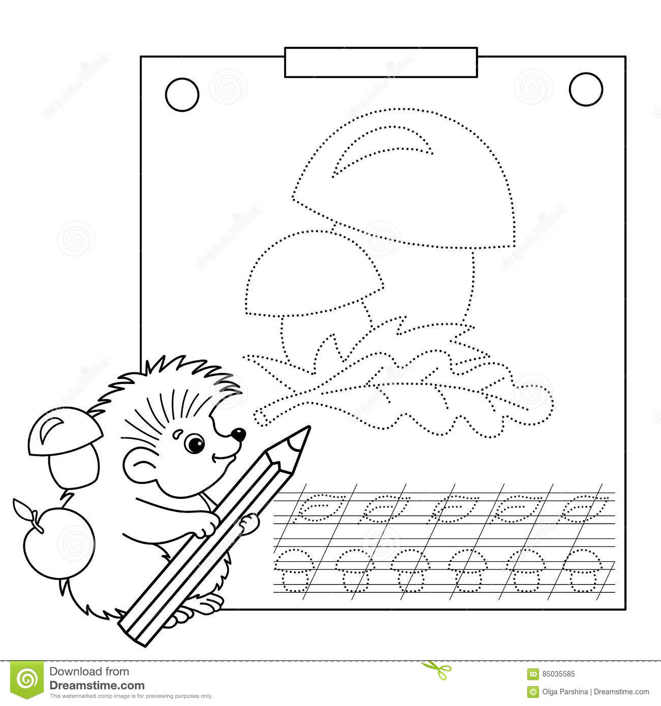 Connect The Dots Picture And Coloring Page Tracing