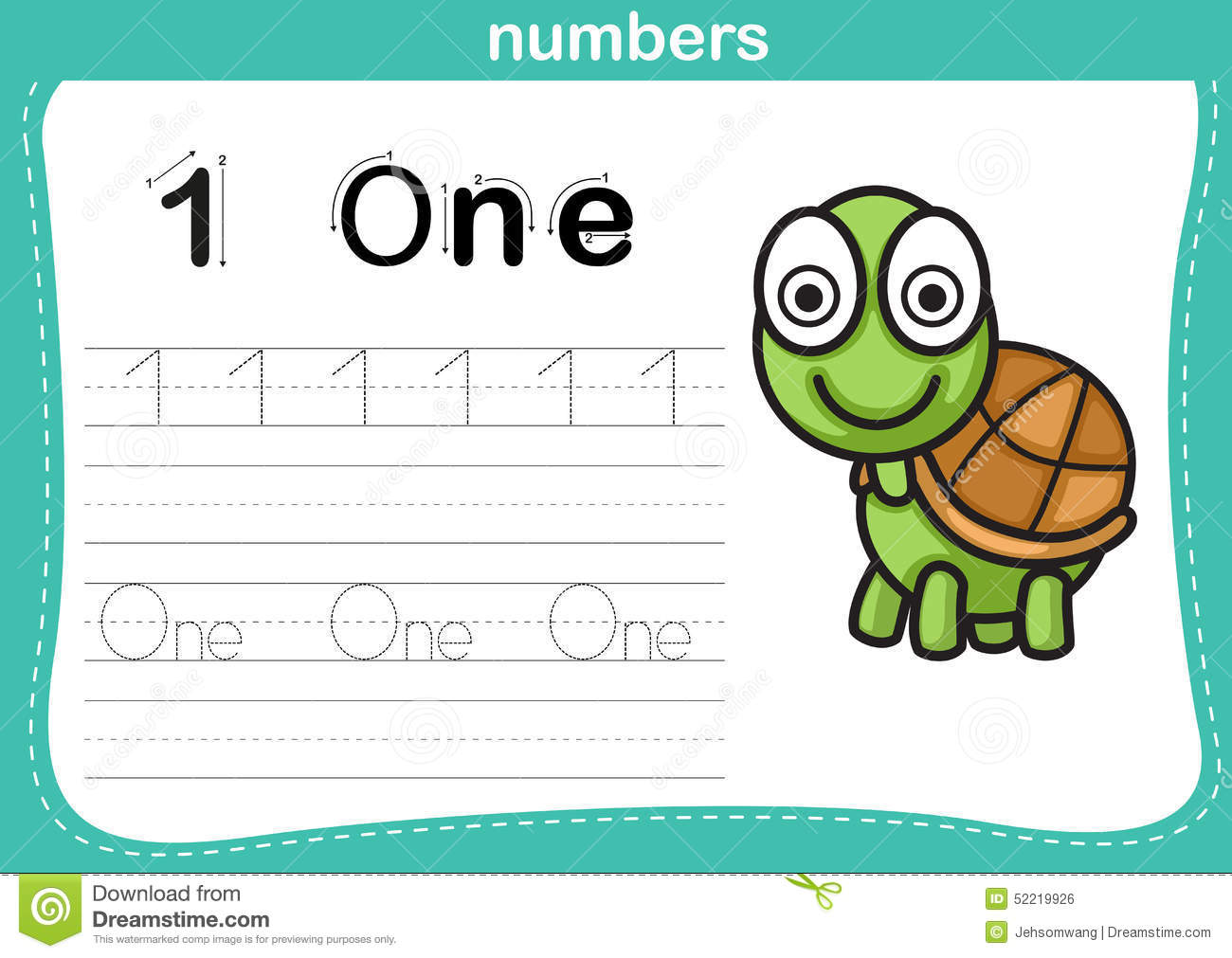 Numbers Vector Sea Life Vector Illustration