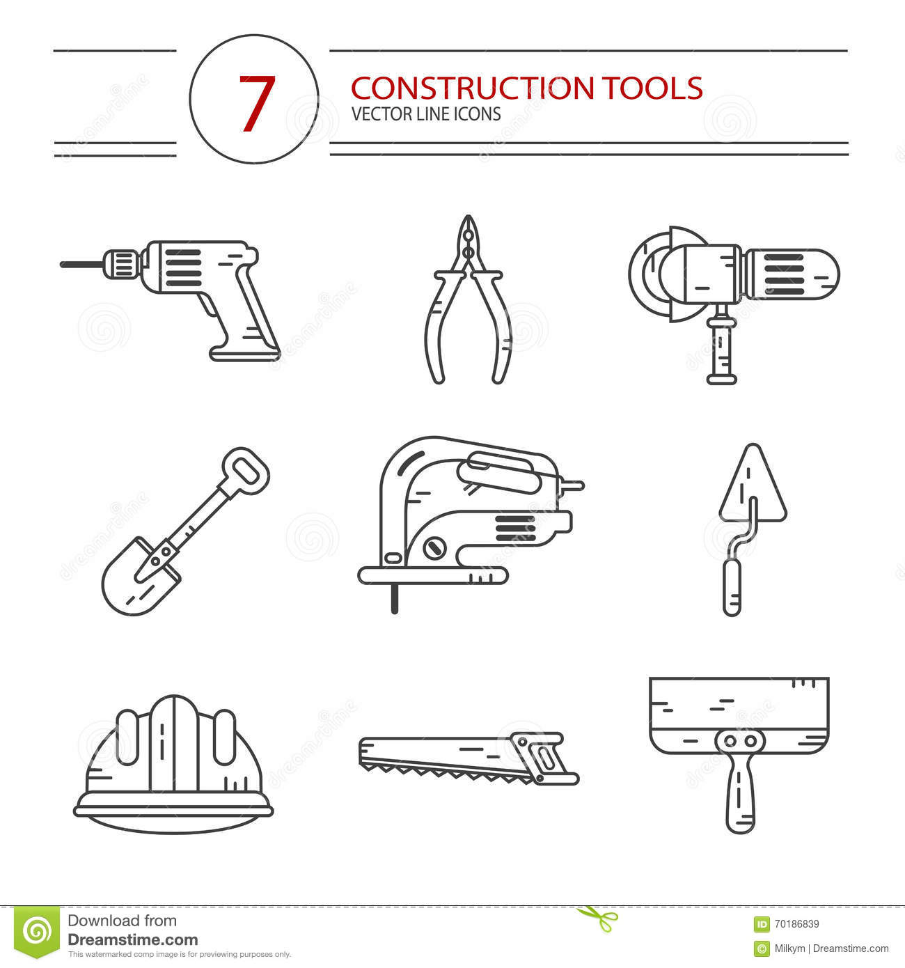 Construction Tools Stock Vector Image Of Industry