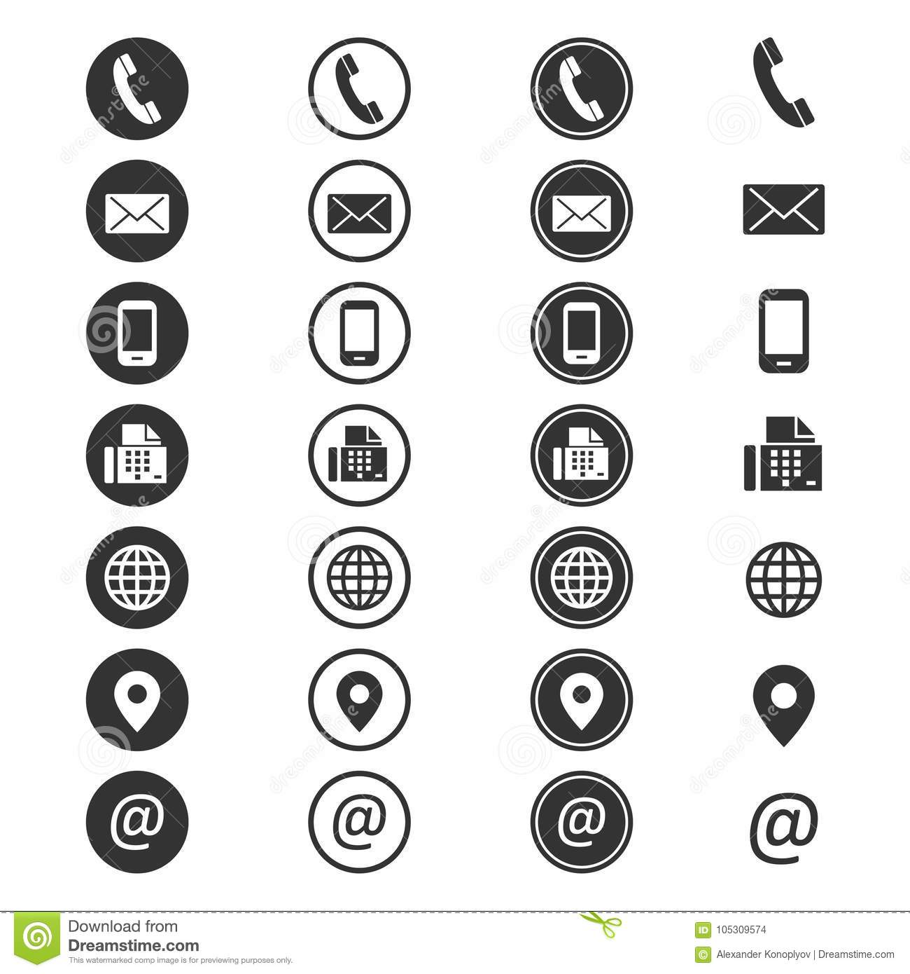 Contact Info Icon Stock Vector Illustration Of Account