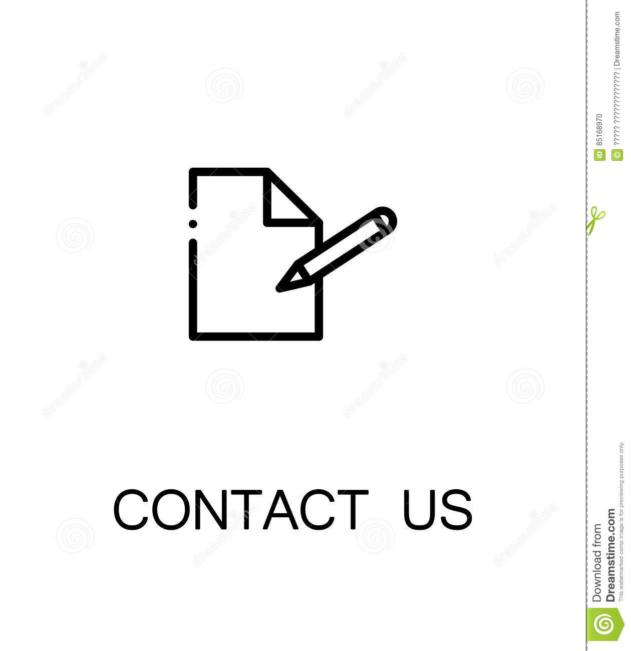 Contact Us Icon Stock Vector Illustration Of Internet