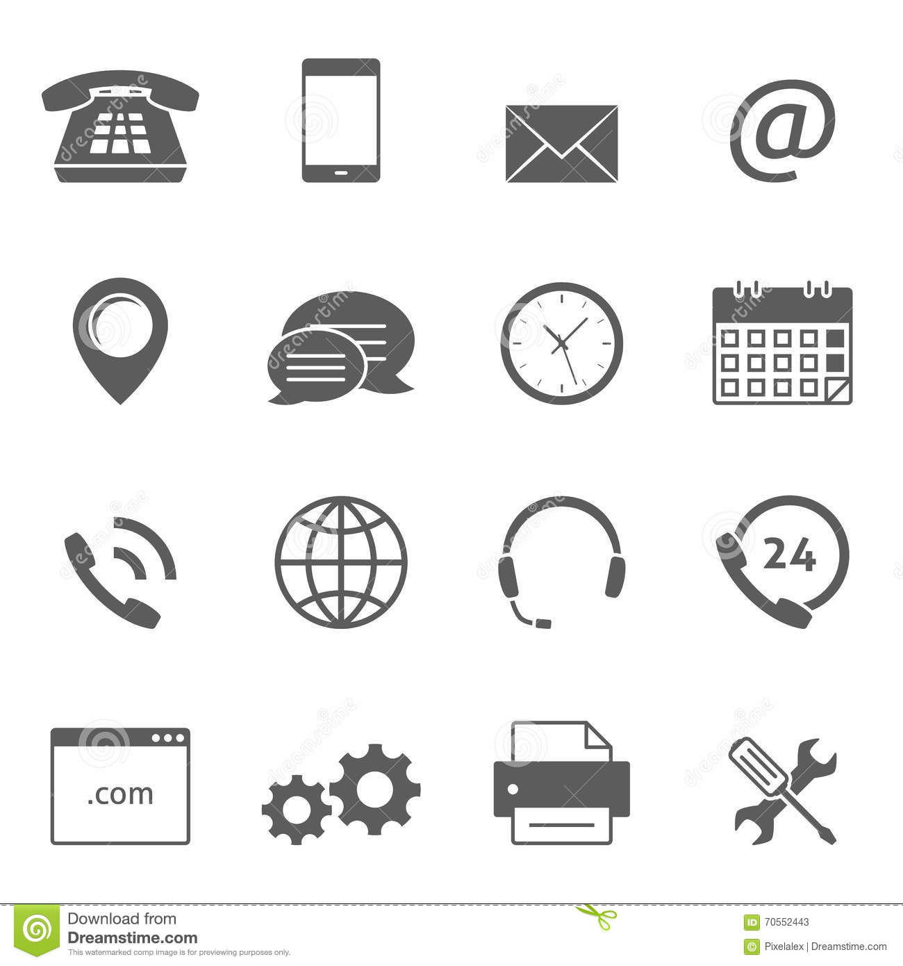 Contact Us Icons Stock Vector Illustration Of Headphone