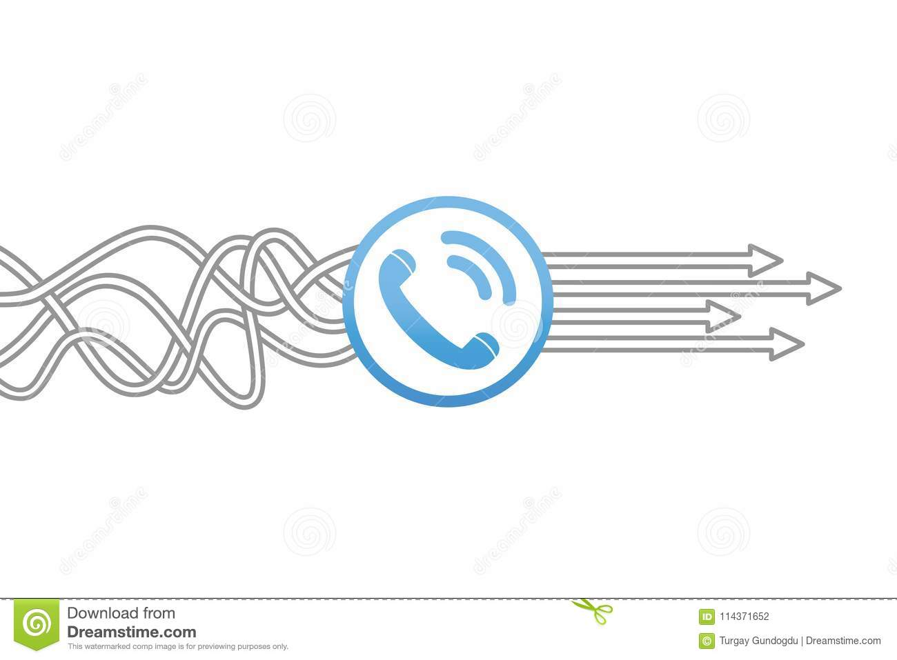 Contact Us Solution Concepts Stock Vector