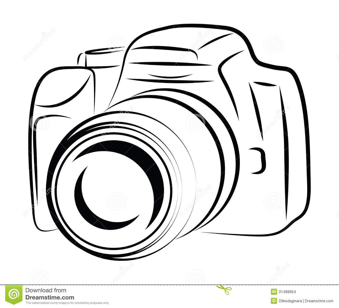 Contour Camera Drawing Stock Illustration Image Of