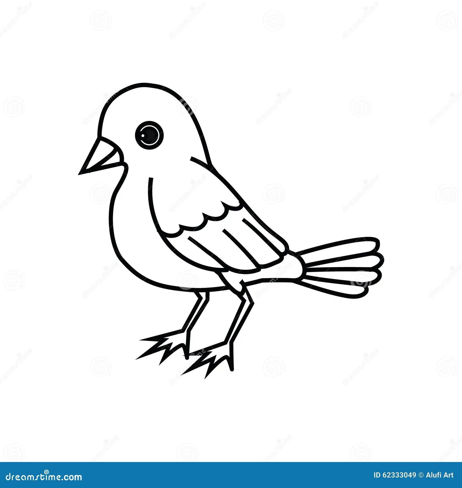 Contour Debout D Oiseau Illustration De Vecteur