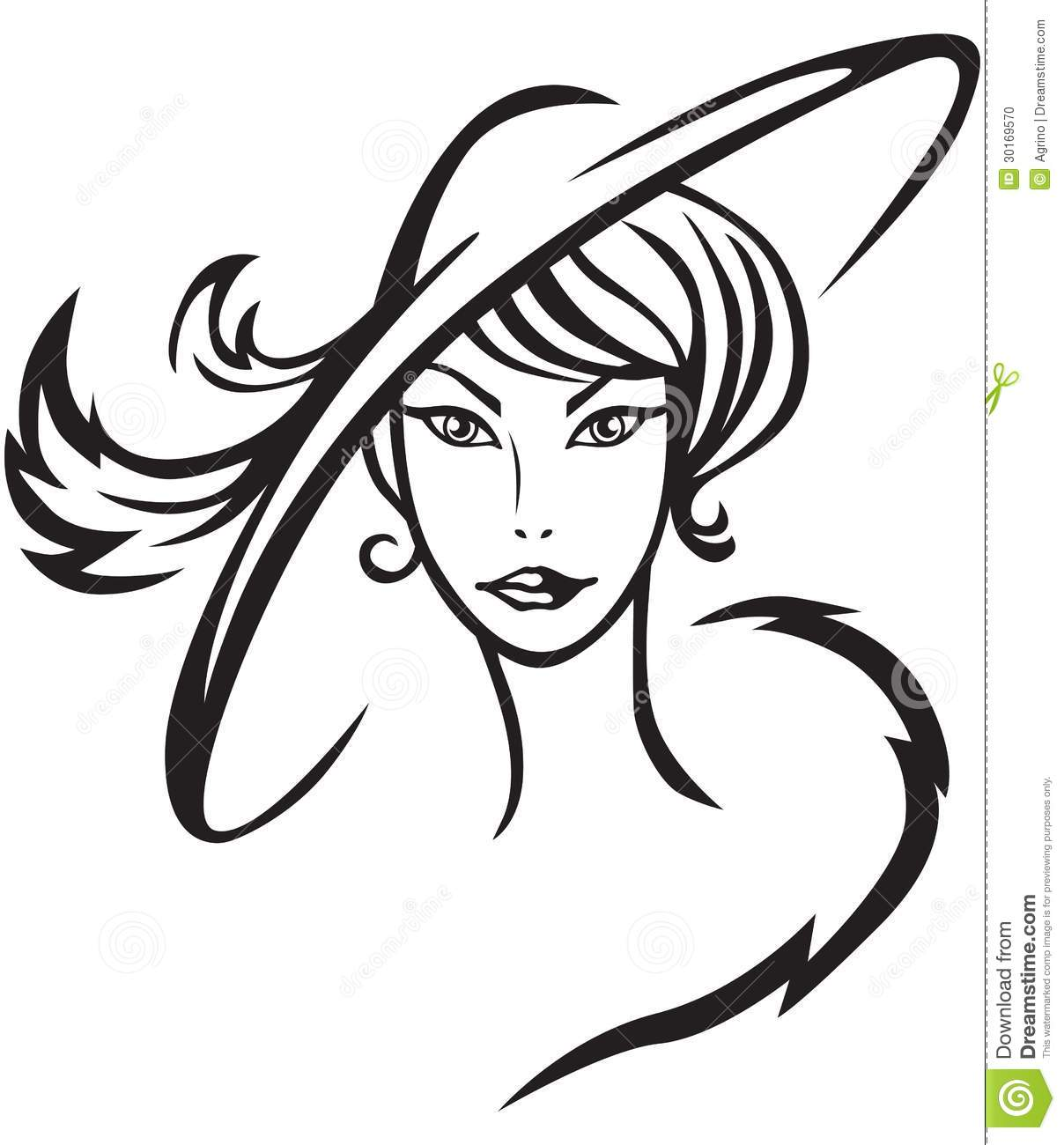 Beautiful Lady In Hat Stock Vector Illustration Of