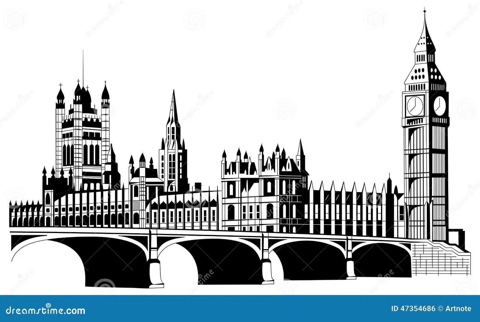 Contour London City In Vector Stock Vector