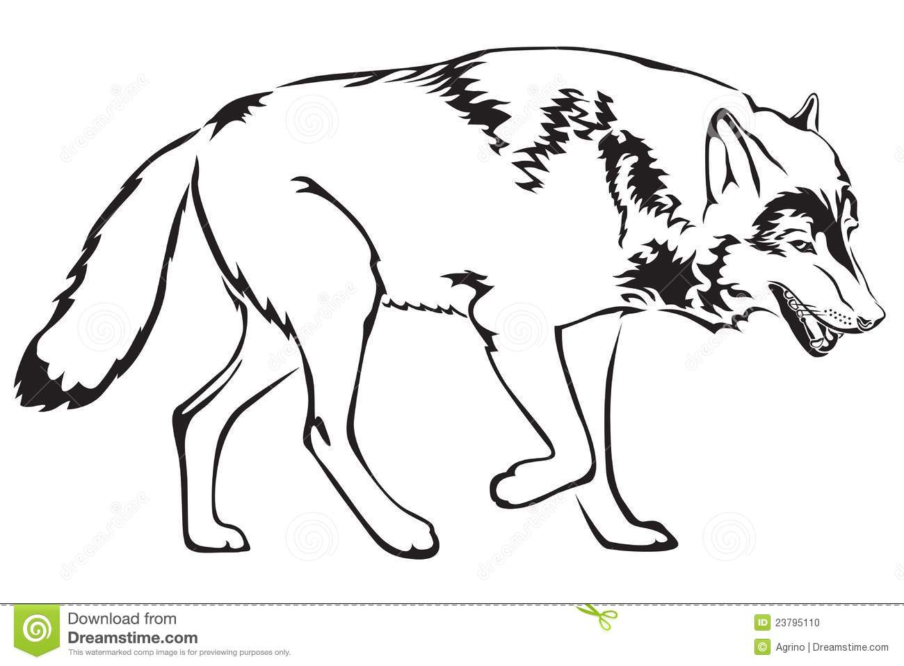 Contour Of Wolf Stock Photo