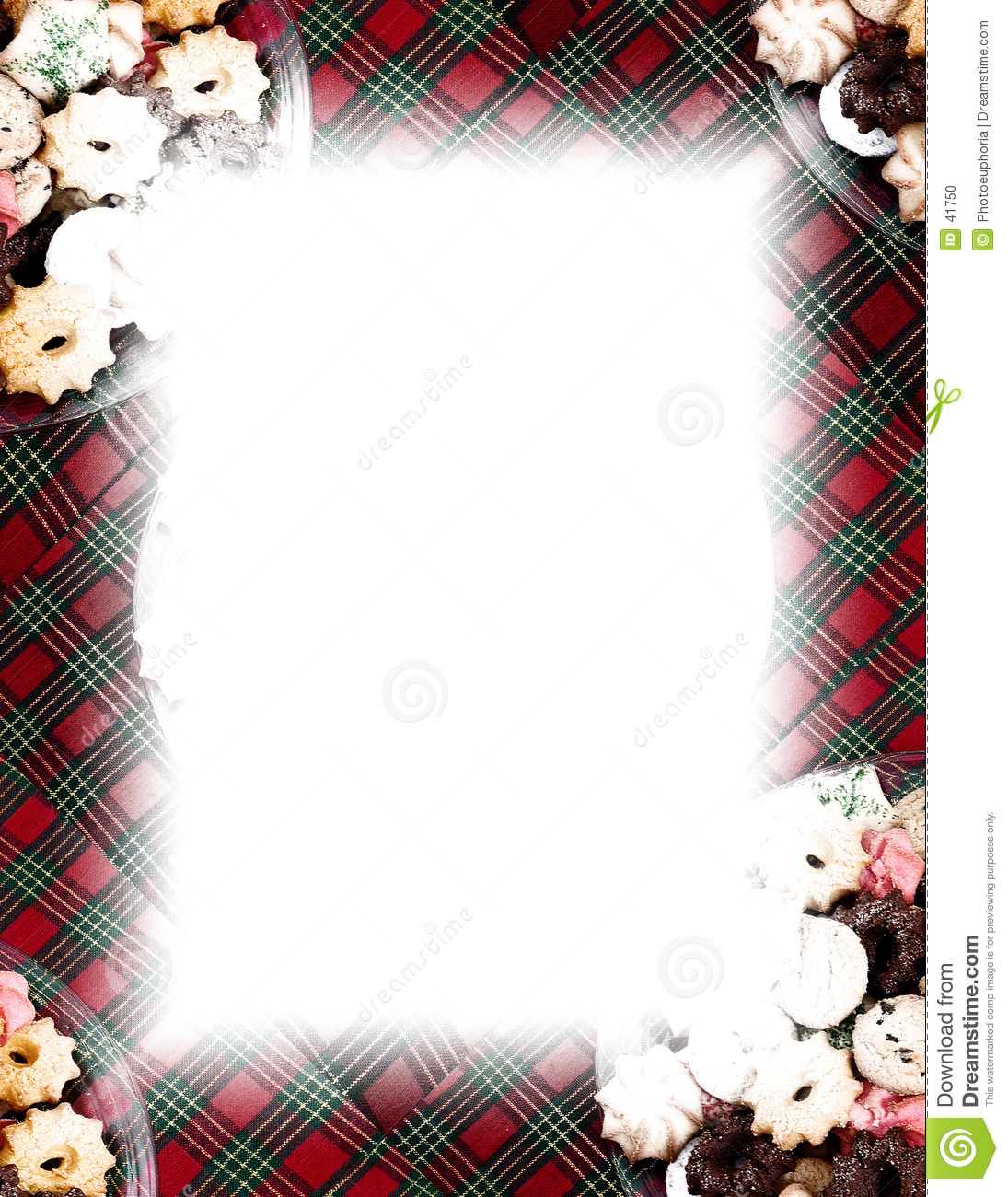 Cookies Amp Plaid Border On White Stock Illustration Image
