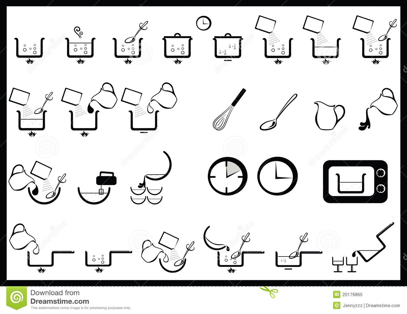 Cooking Instructions Stock Vector Image Of Casserole