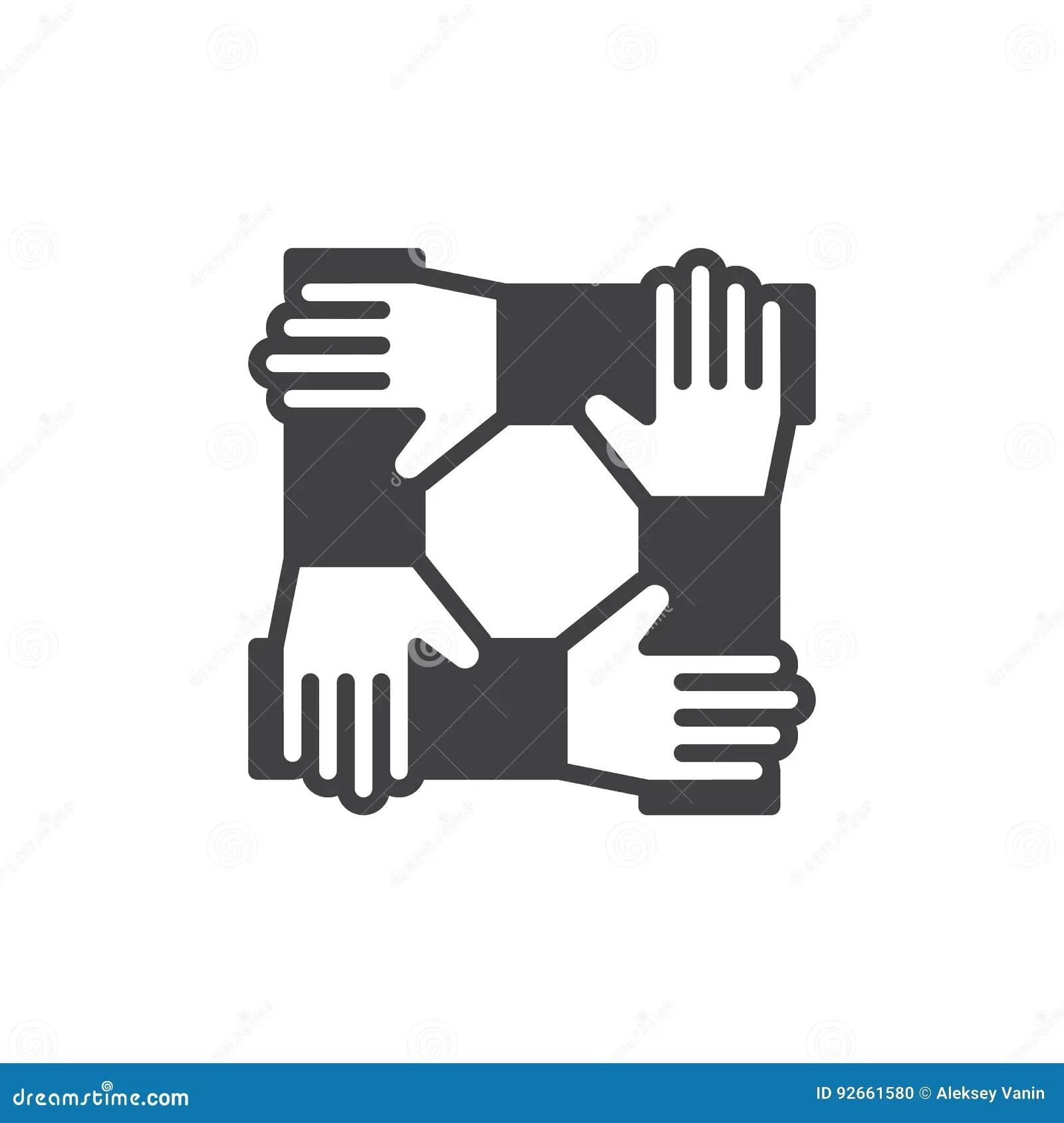 Teamwork Hands Logo Vector Illustration