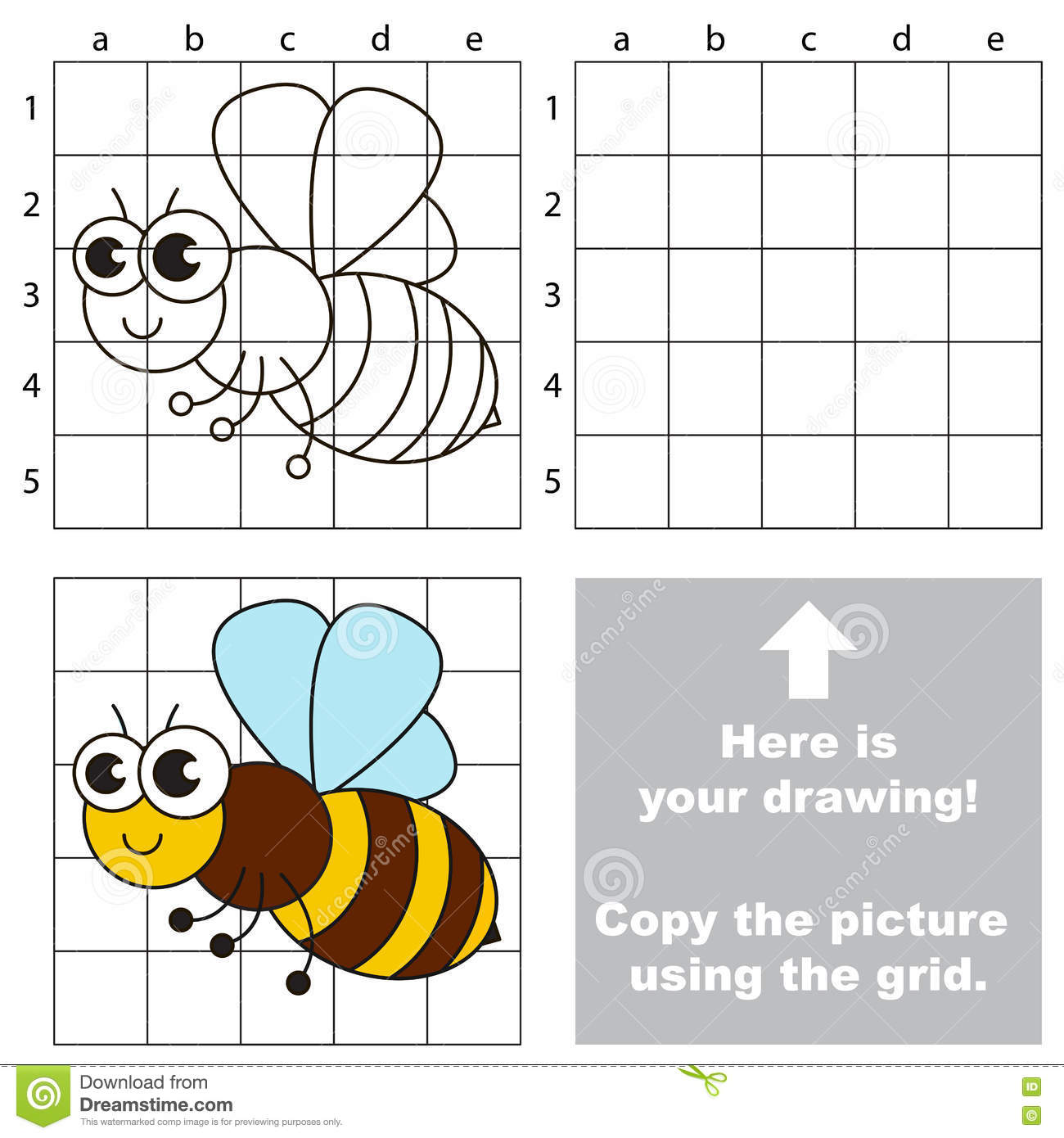 Copy The Image Using Grid The Simple Educational Kid Game