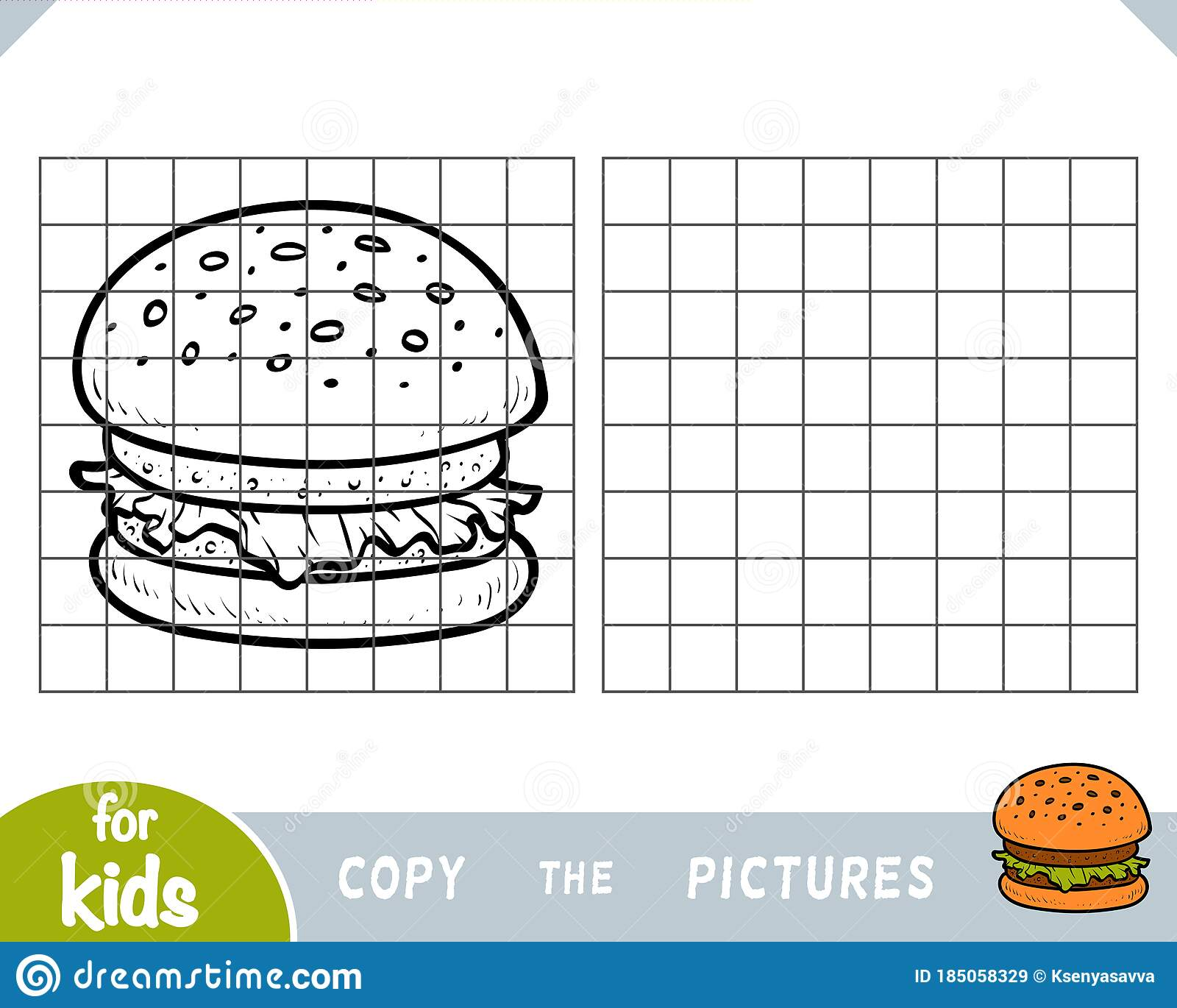 Copy The Picture Education Game For Children Burger