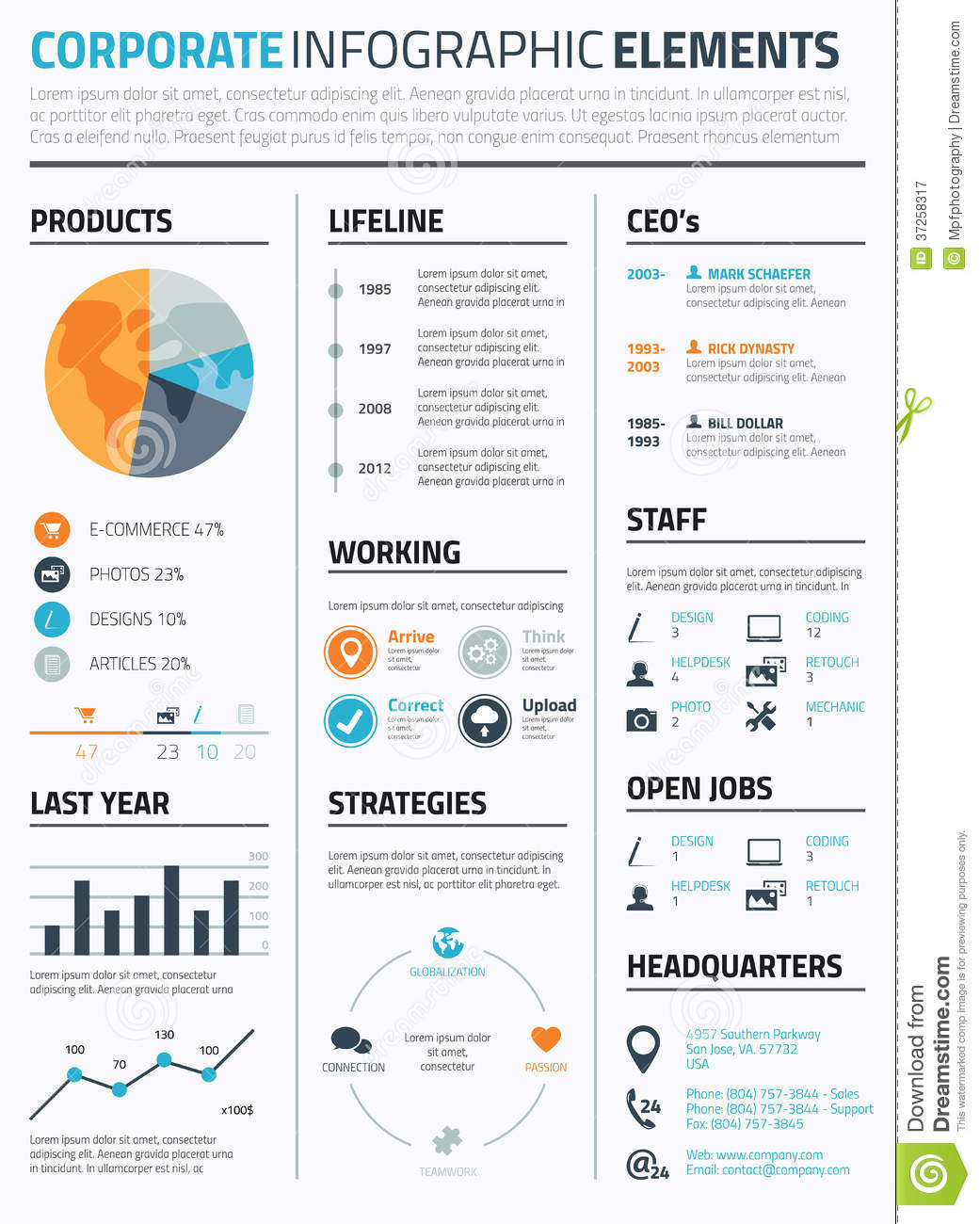 corporate infographic elements vector royalty free stock