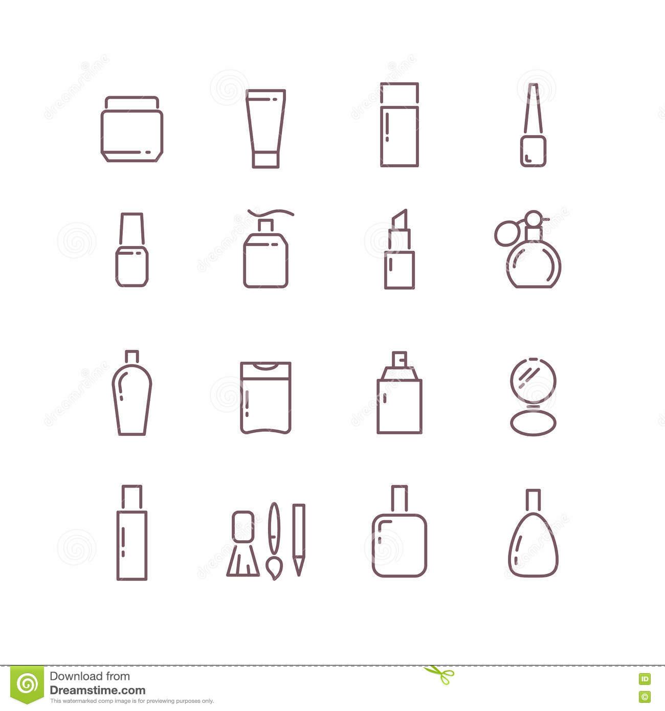 Vector Outline Purple Onion Icon Modern Infographic Logo