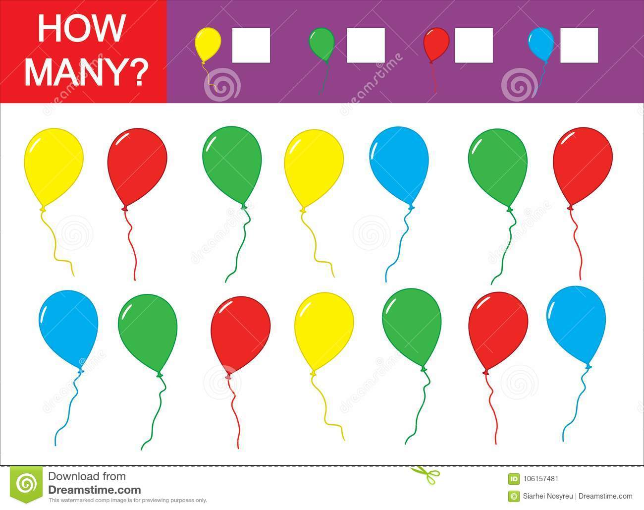 Count How Many Balloons Teaching Colors Counting Kid S