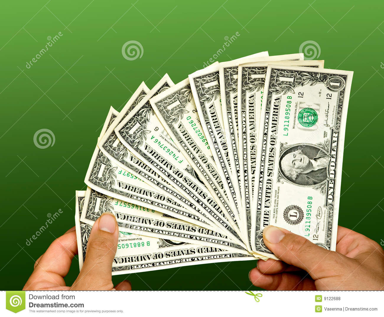 Counting Dollar Bills Stock Photo Image Of Change