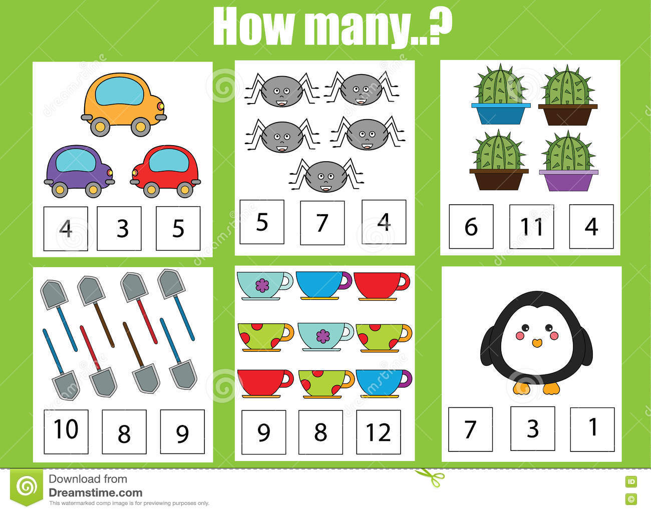 Counting Educational Game For Children Addition