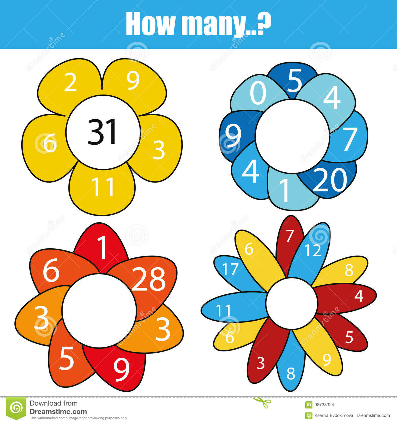 Counting Educational Children Game Kids Activity