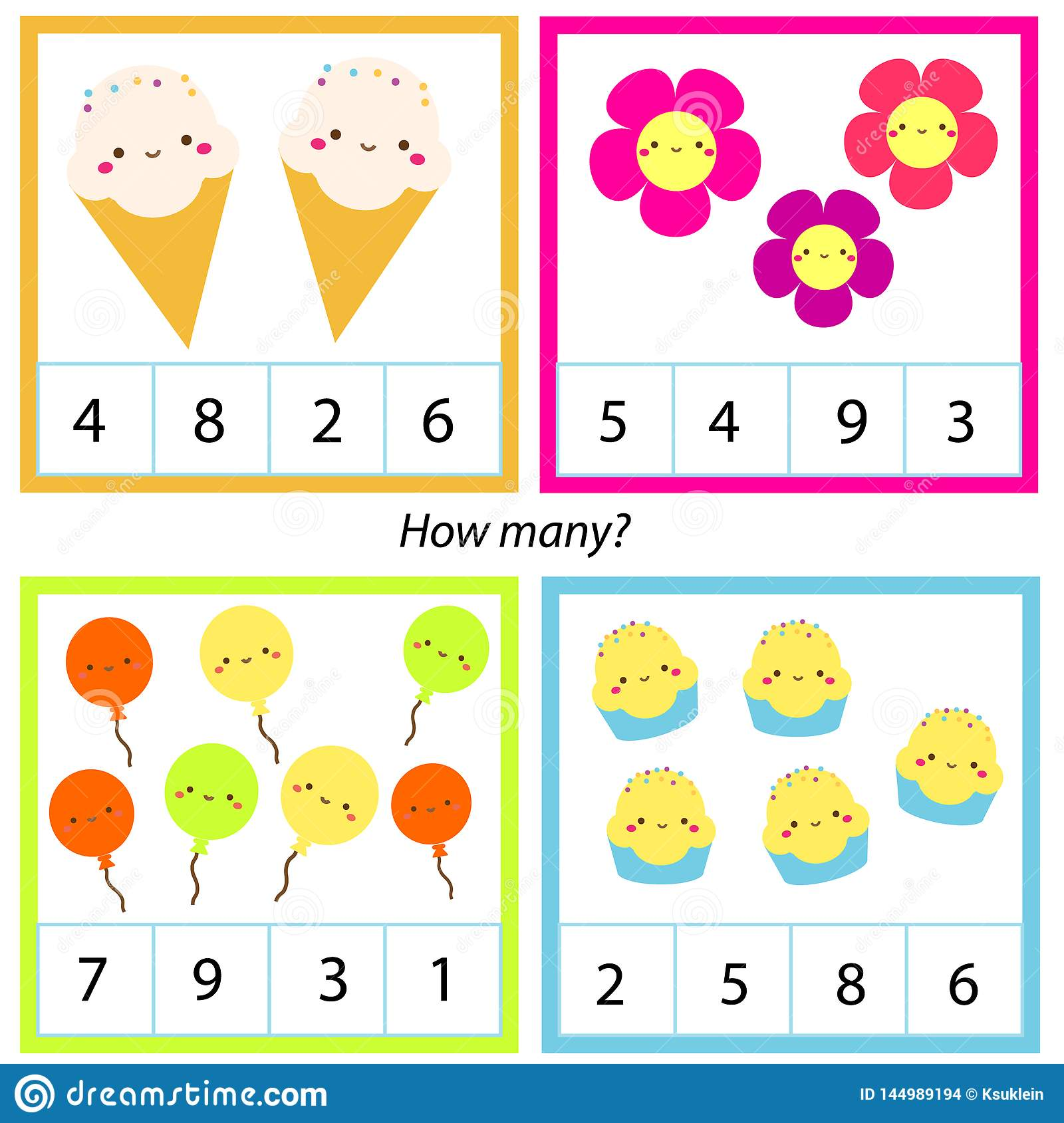 Counting Educational Children Game Mathematics Activity