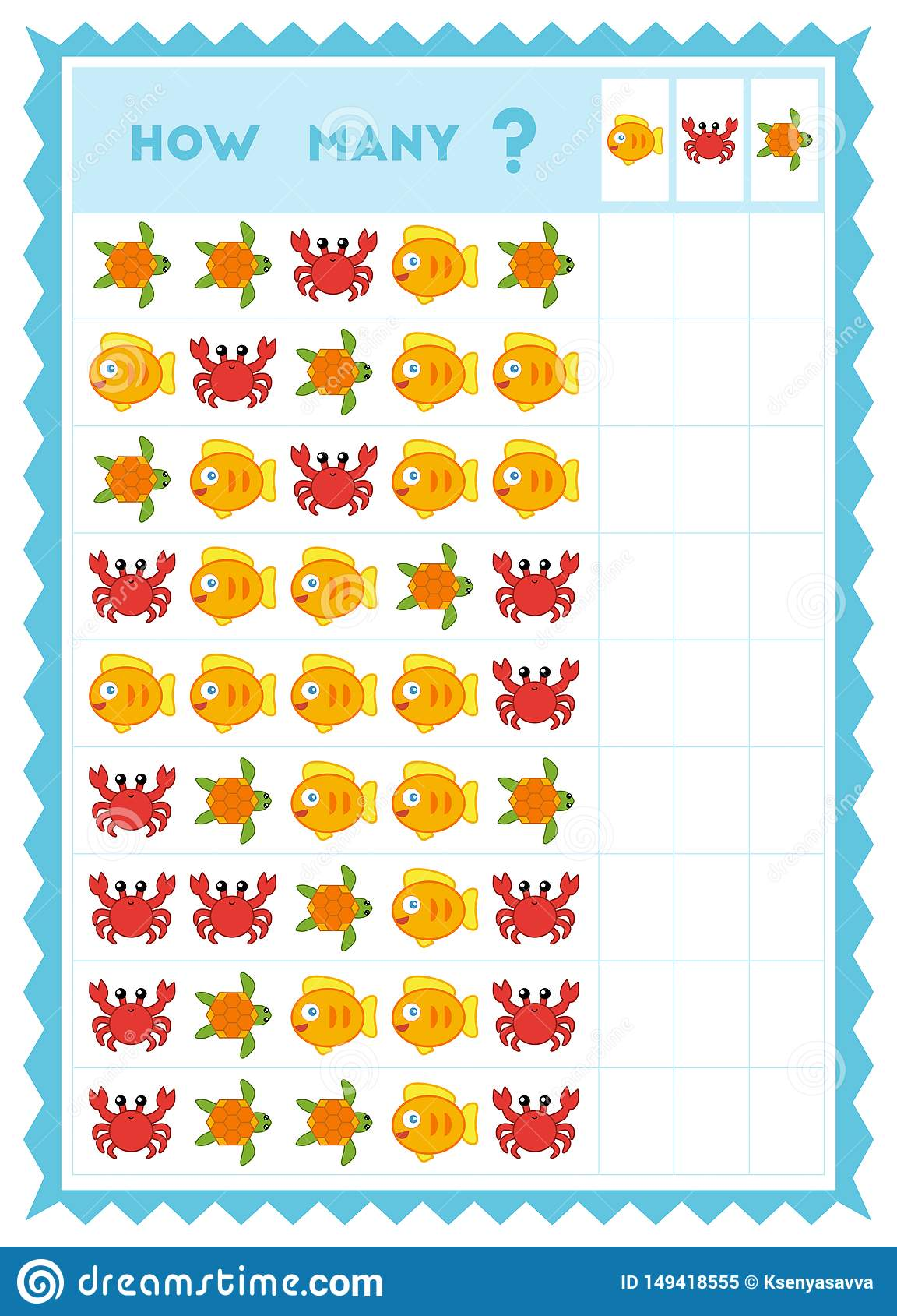 Counting Game Educational Game For Children Count How