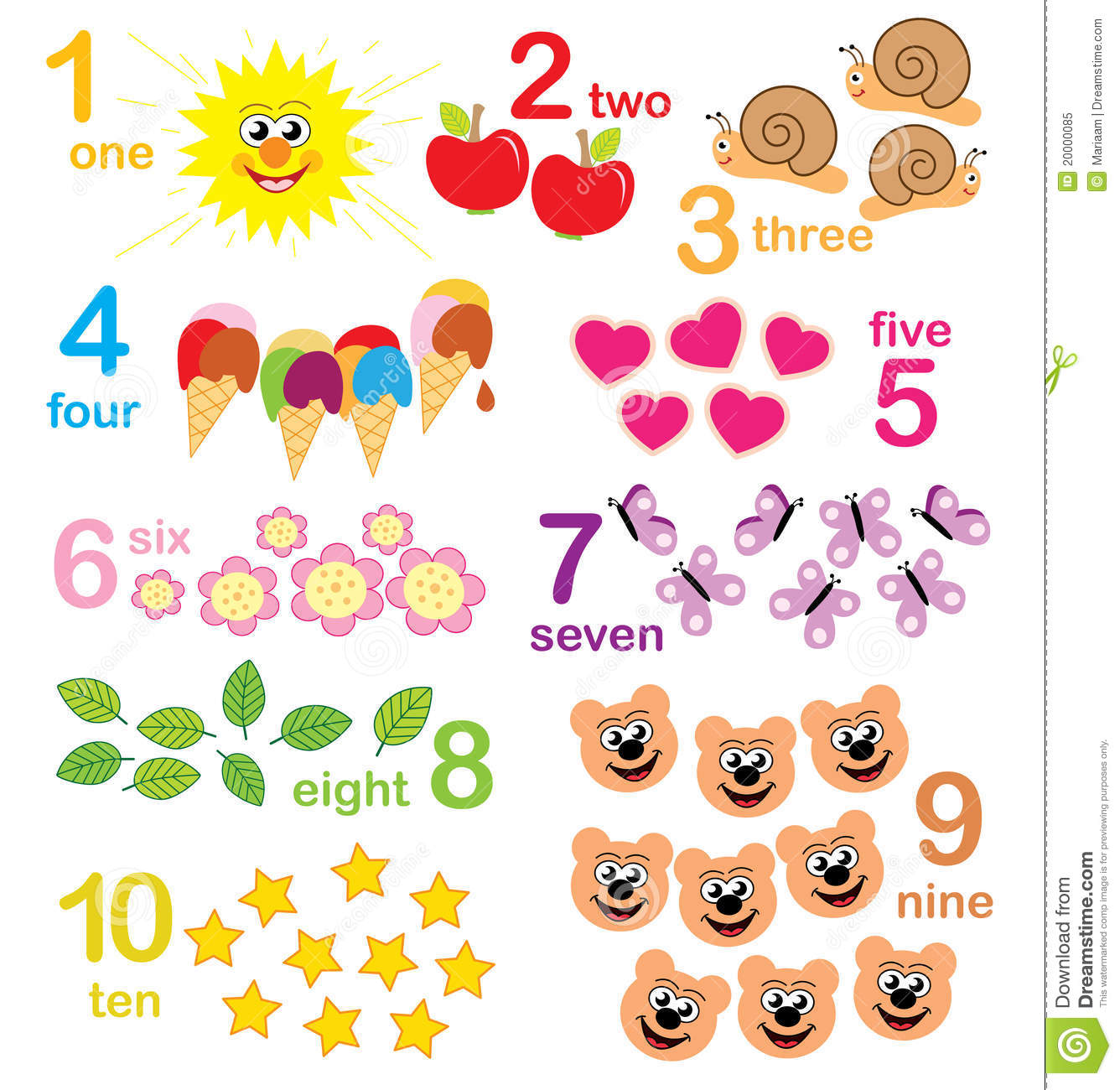 Counting Game For Kids Royalty Free Stock Photo