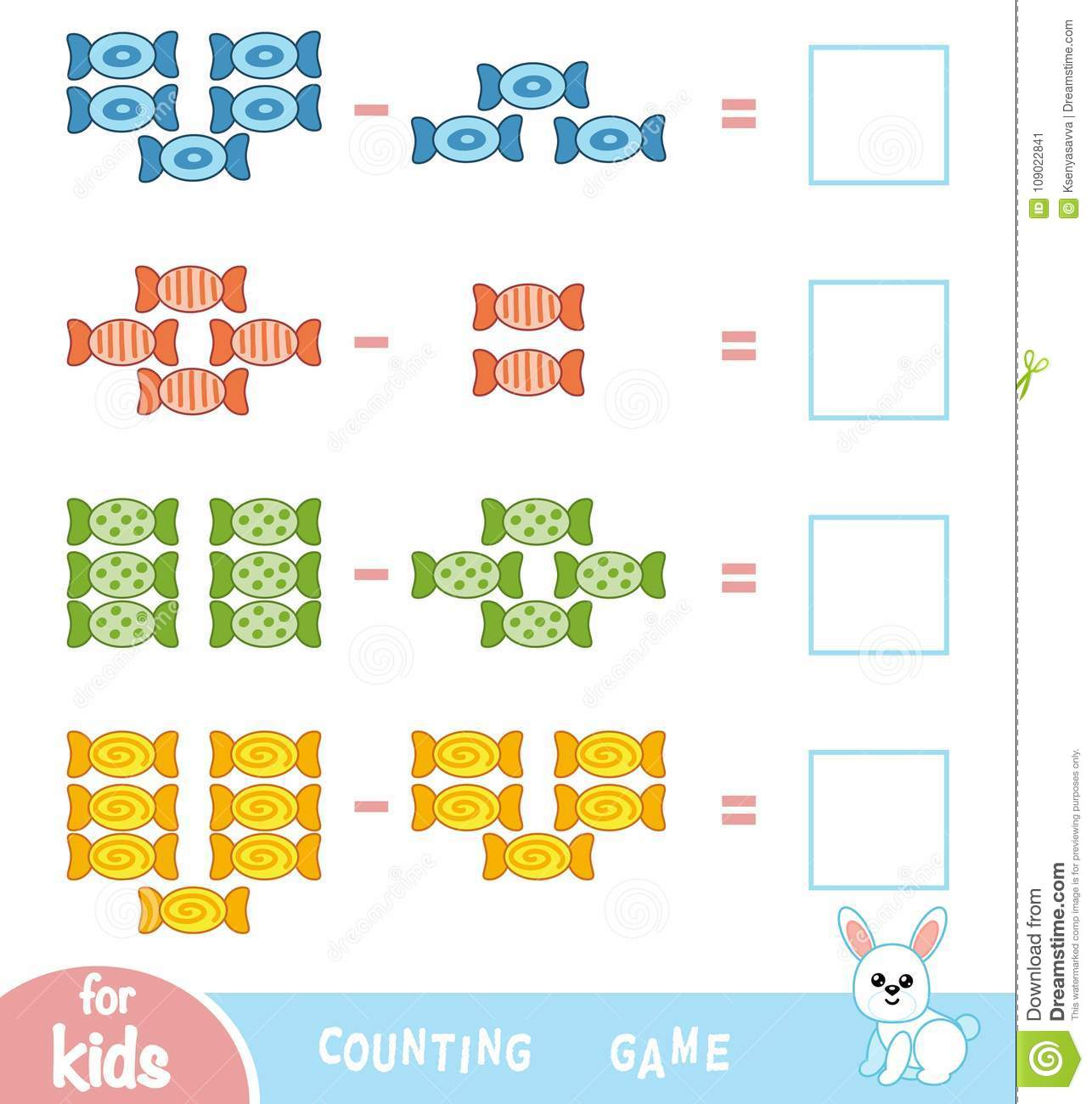 Counting Game For Preschool Children Count The Number Of