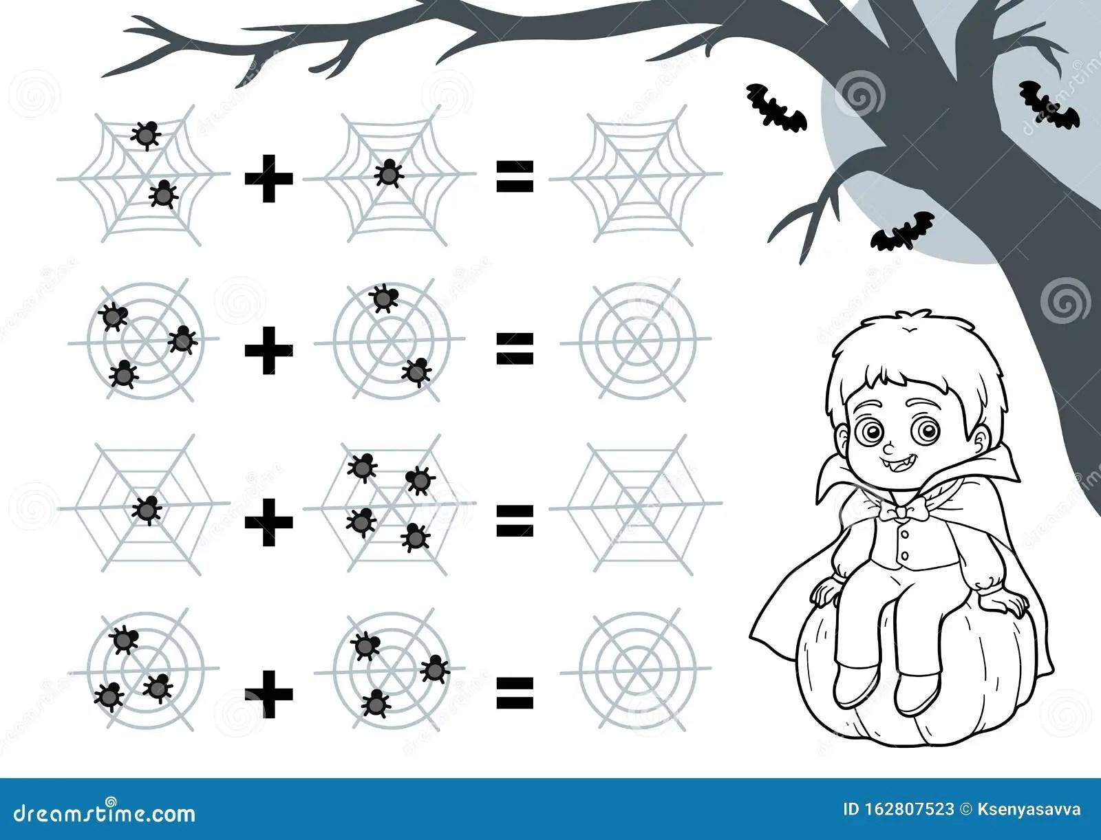 Counting Game For Preschool Children Halloween Characters