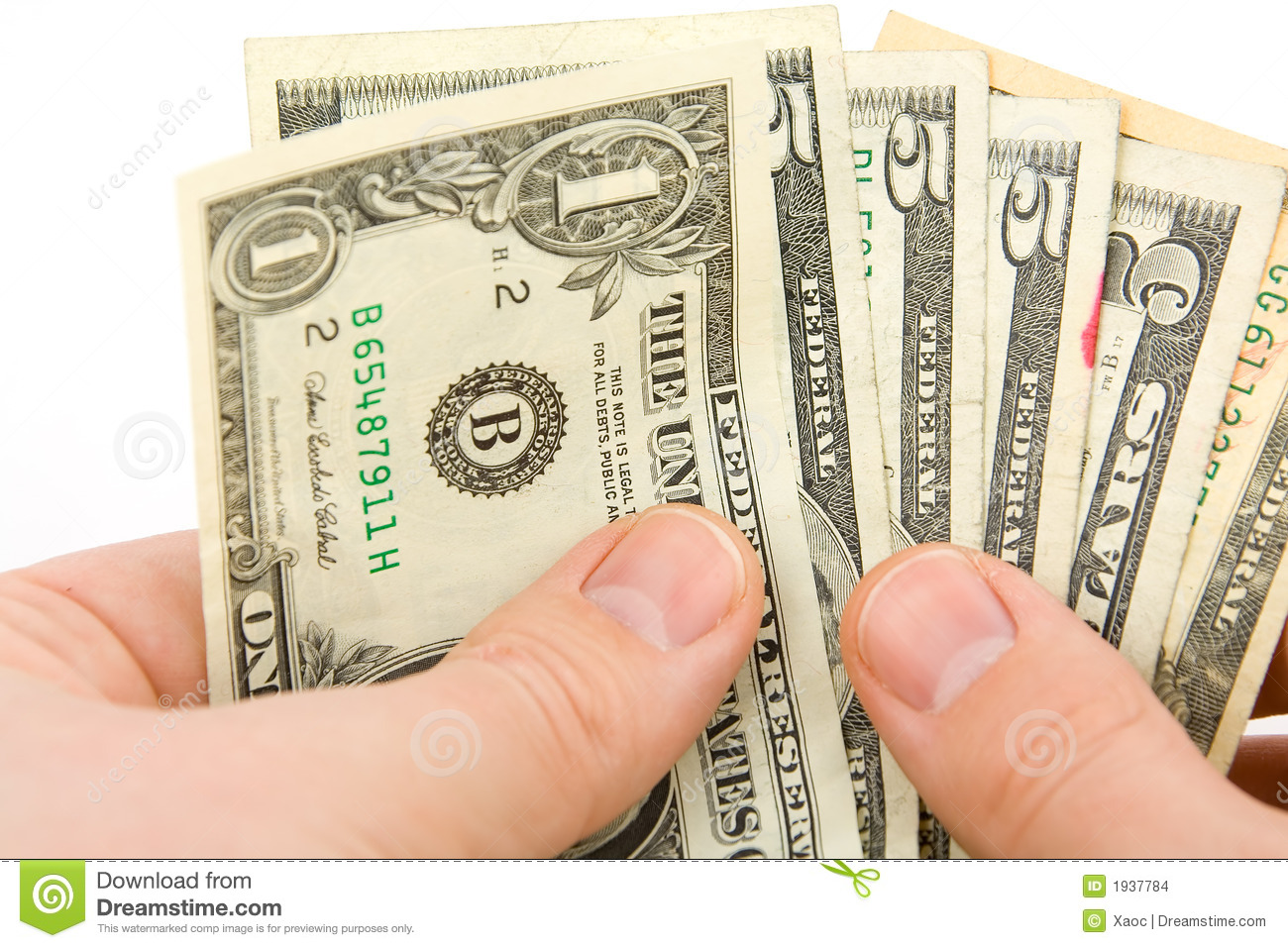 Counting Money Stock Photo Image Of Wage Cash Salary
