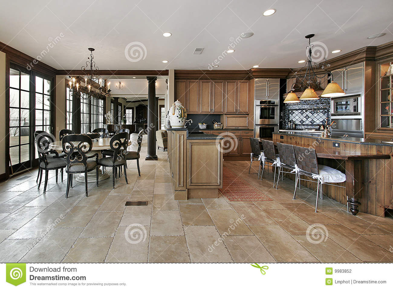 Best Kitchen Gallery: Country Kitchen In Luxury Home Stock Photo Image Of Interior of Luxury Country Kitchens on rachelxblog.com