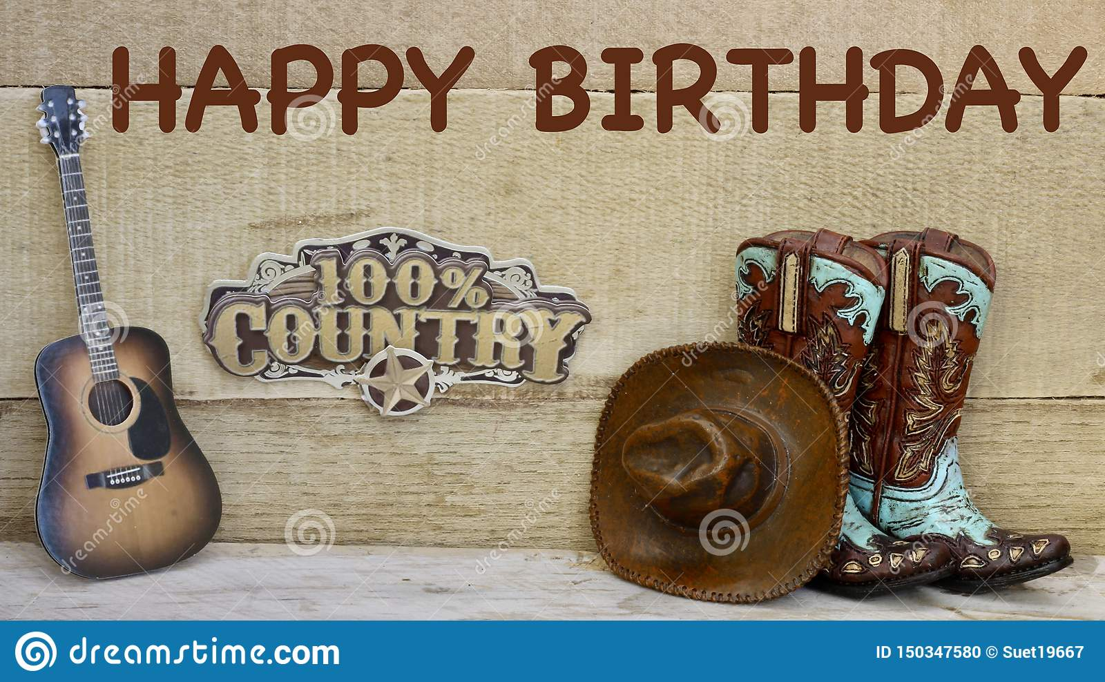 Country And Western Objects On A Wood Background Stock Photo Image Of Cowboy Happiness 150347580
