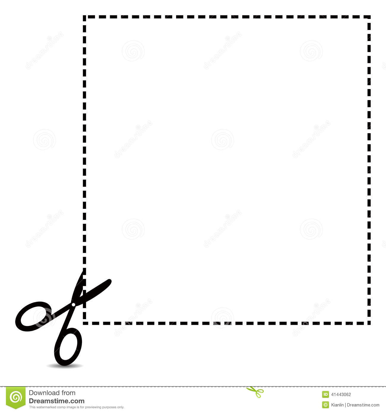 Coupon Clipping Outline Stock Vector