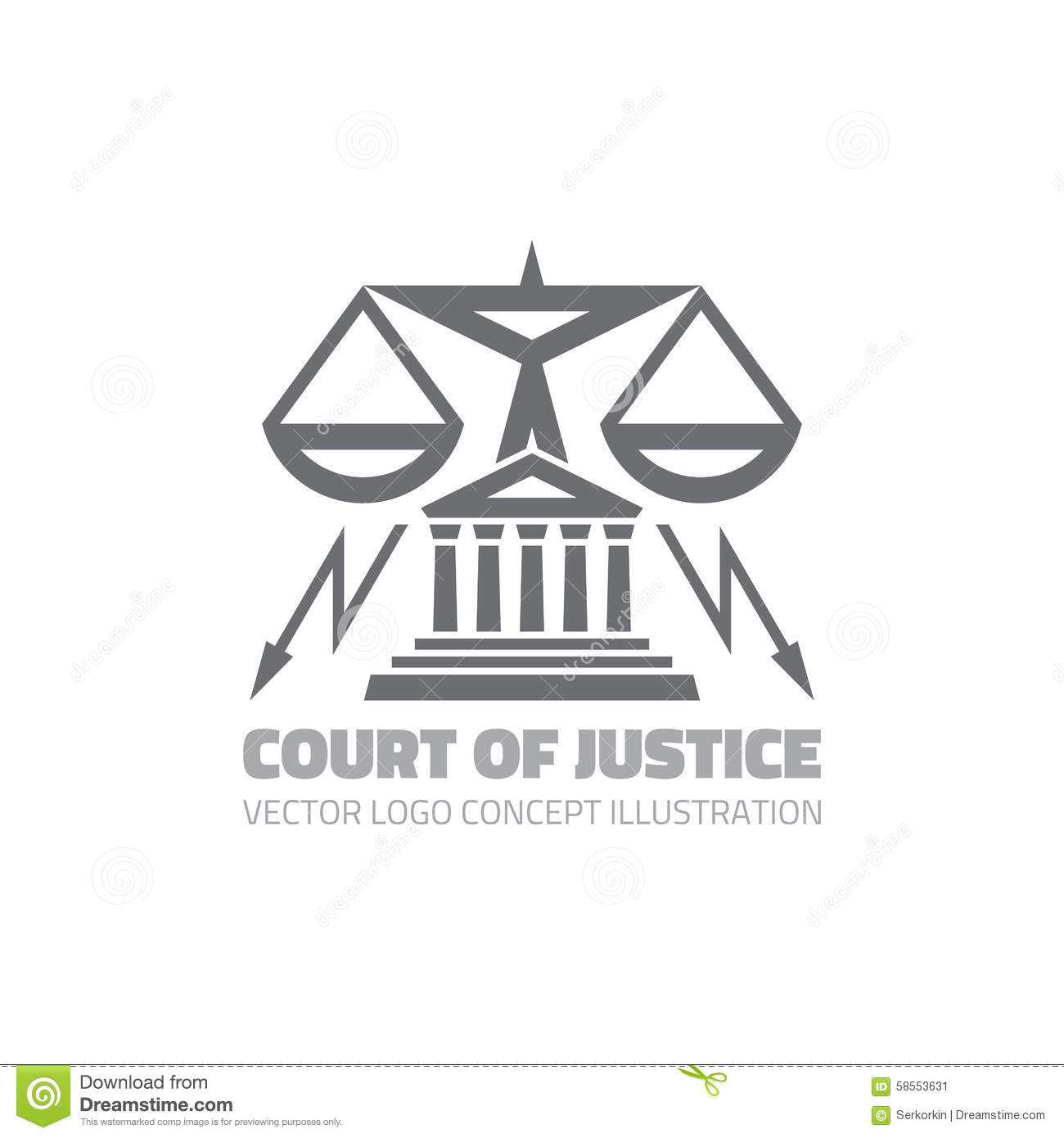 Law And Attorney Logo Concept Cartoon Vector