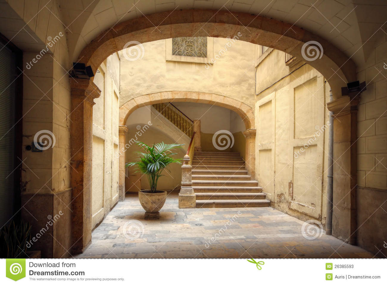 Courtyard Of Old Spanish Home Stock Photos Image 26385593