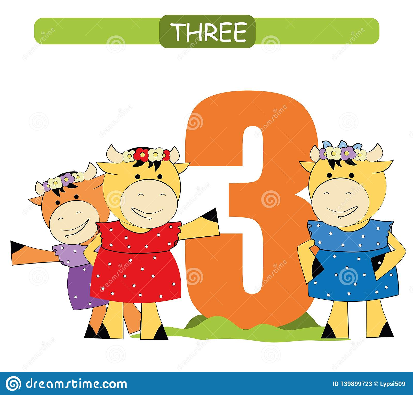 Three Collection Number For Kindergarten And Preschool