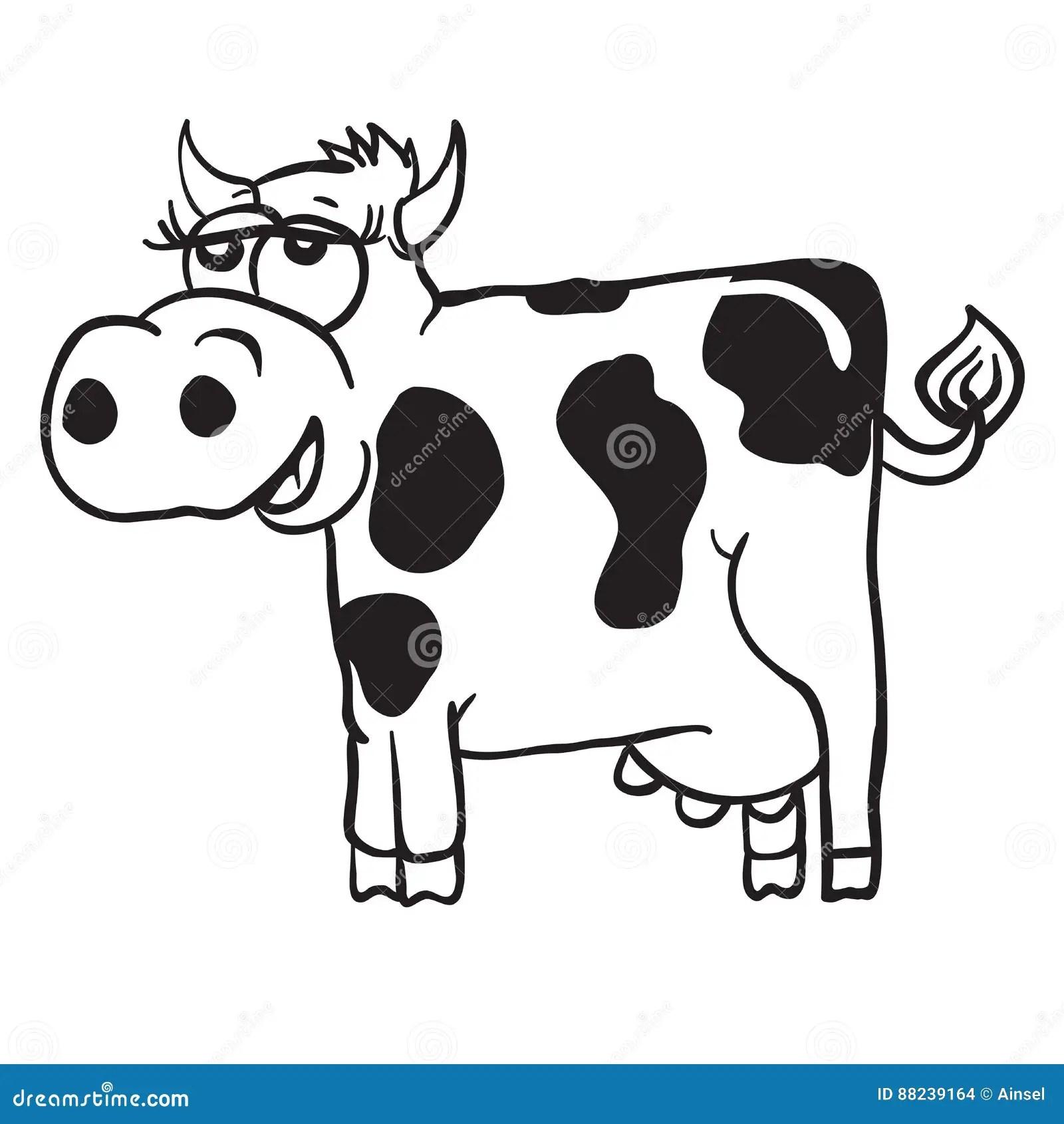 Cow Cartoon Stock Illustration Illustration Of Modern
