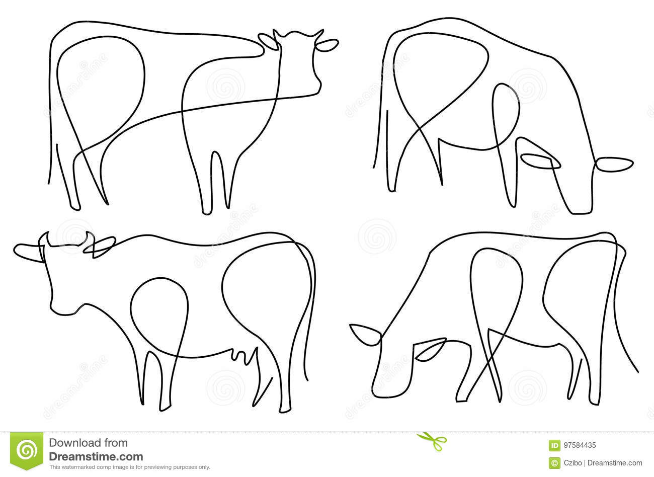 Cow Cartoons Illustrations Amp Vector Stock Images