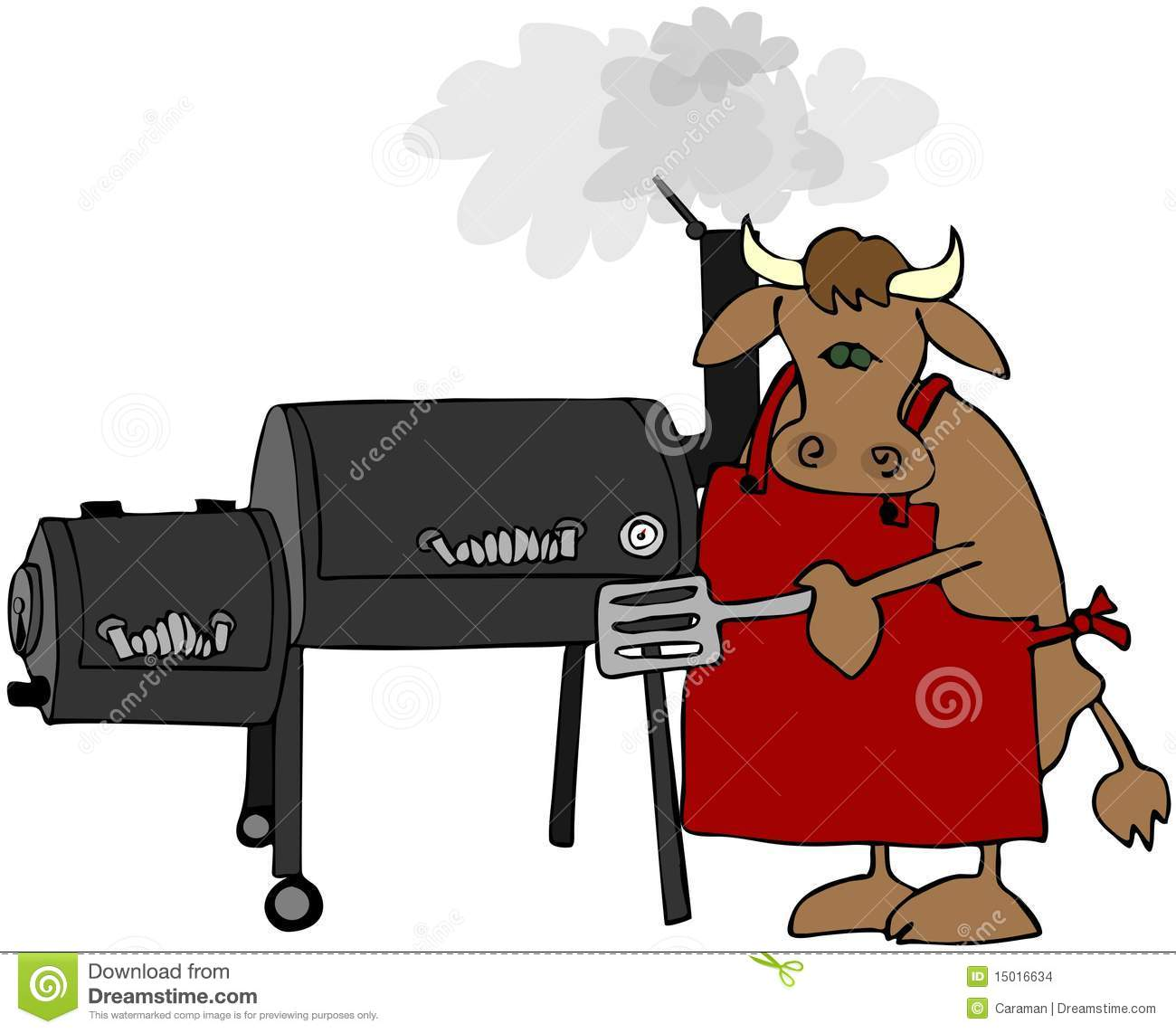 Cow Using A Smoker Stock Images Image 15016634