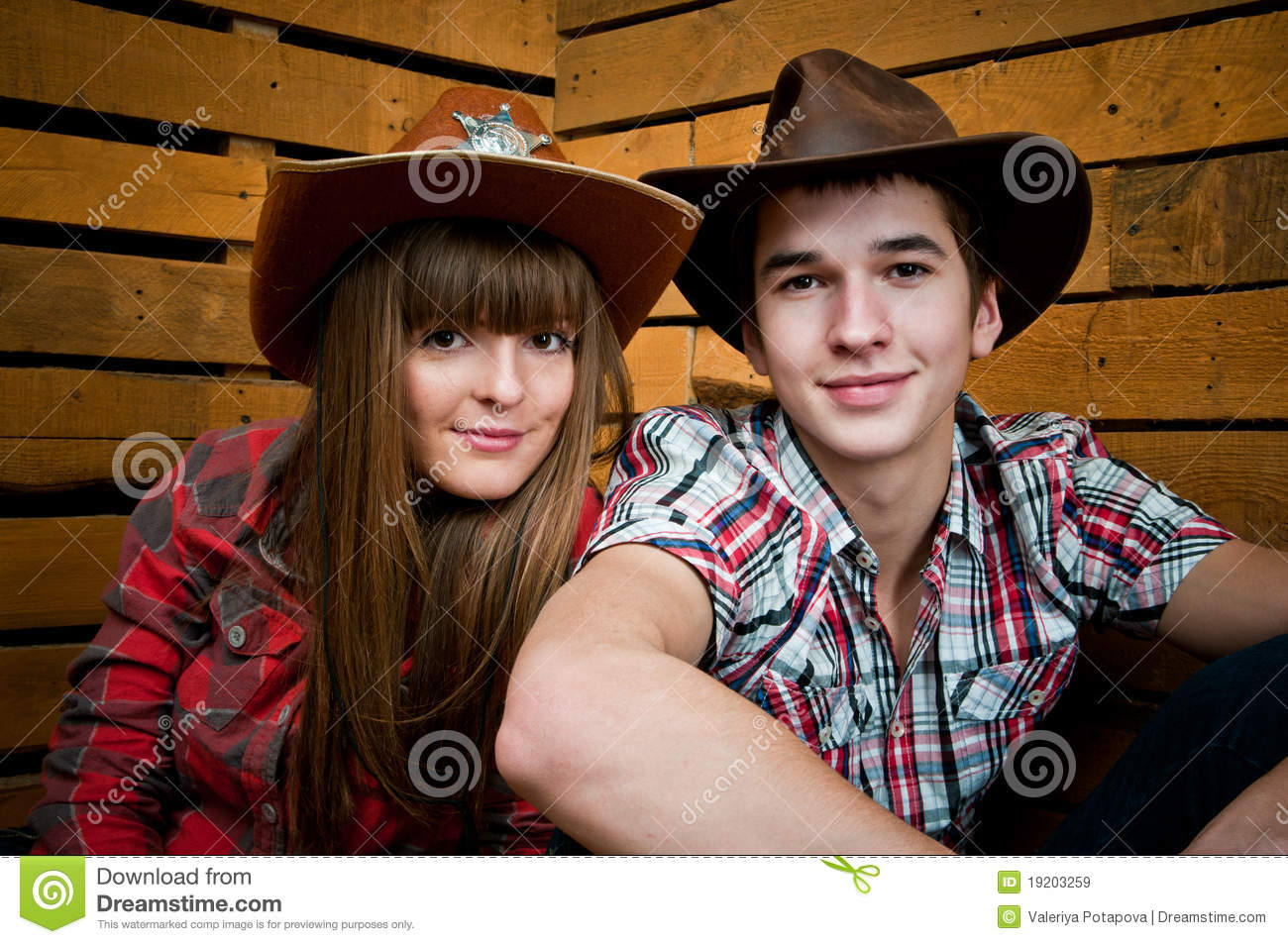 Cowboy And Cowgirl Couple Stock Image Image Of Starring