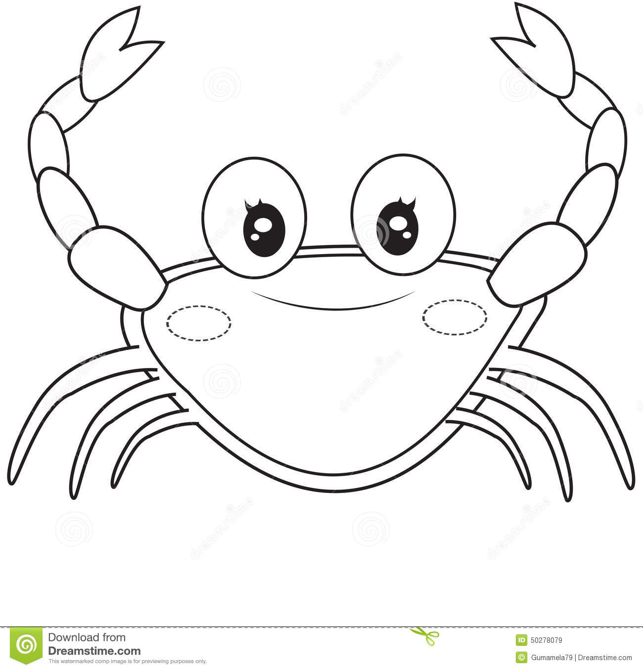 Crab Coloring Page Stock Illustration Illustration Of