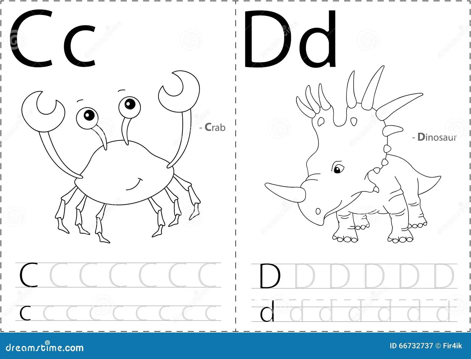 Crabe Et Dinosaure De Bande Dessinee Fiche De Travail De