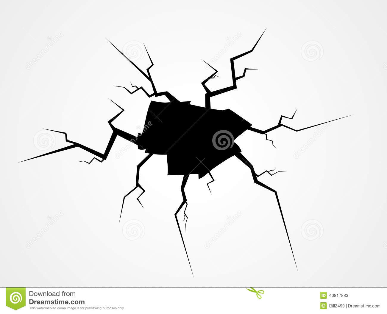 Crack Vector Stock Illustration