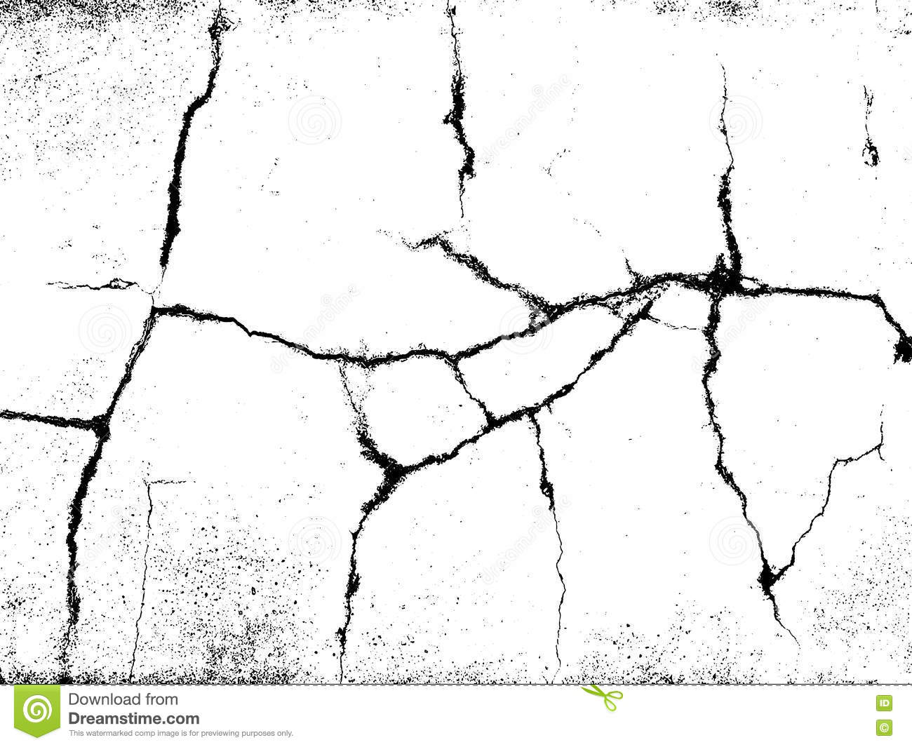 Cracks Texture Overlay Vector Background Stock Vector